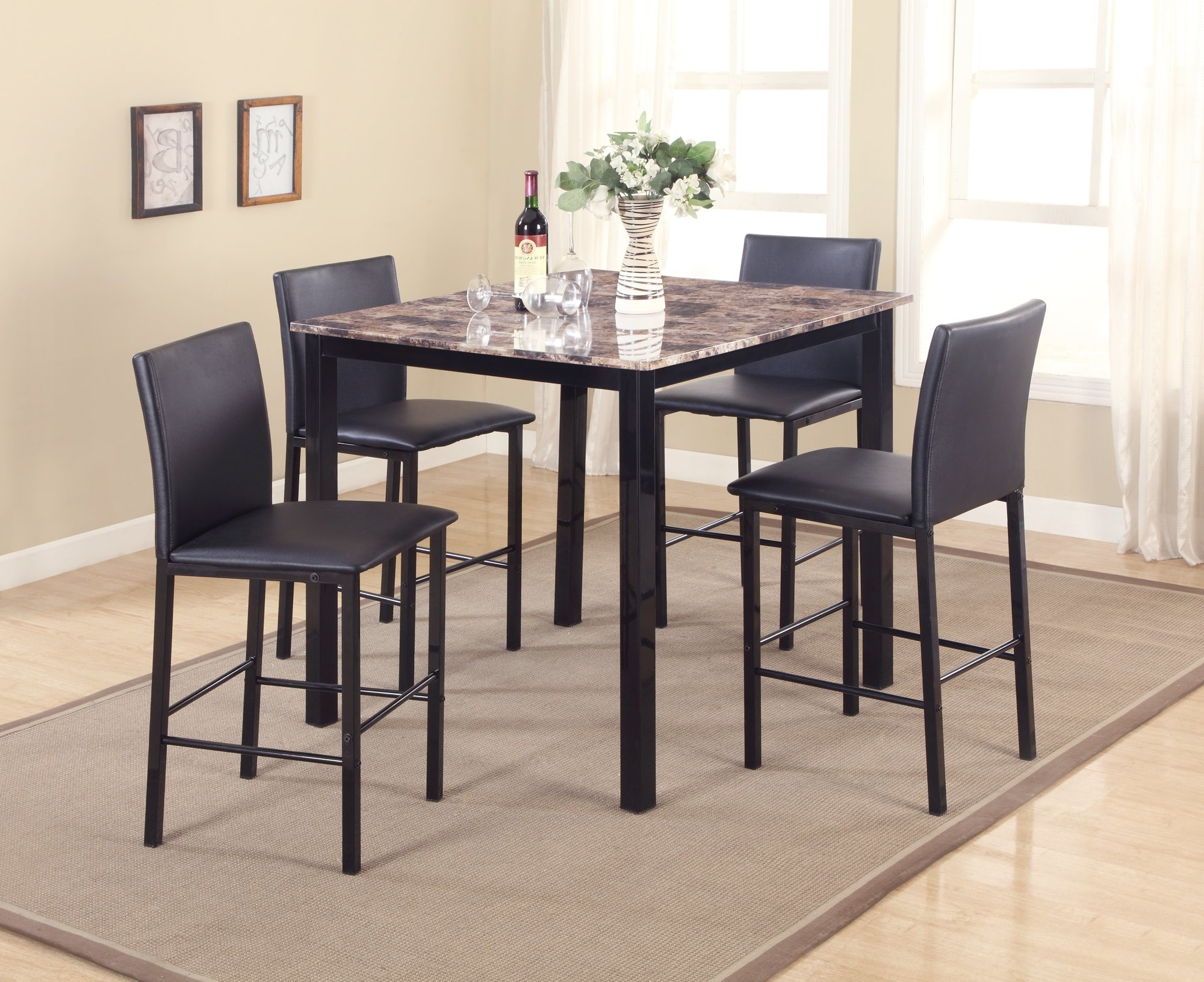 Featured Photo of Noyes 5 Piece Dining Sets