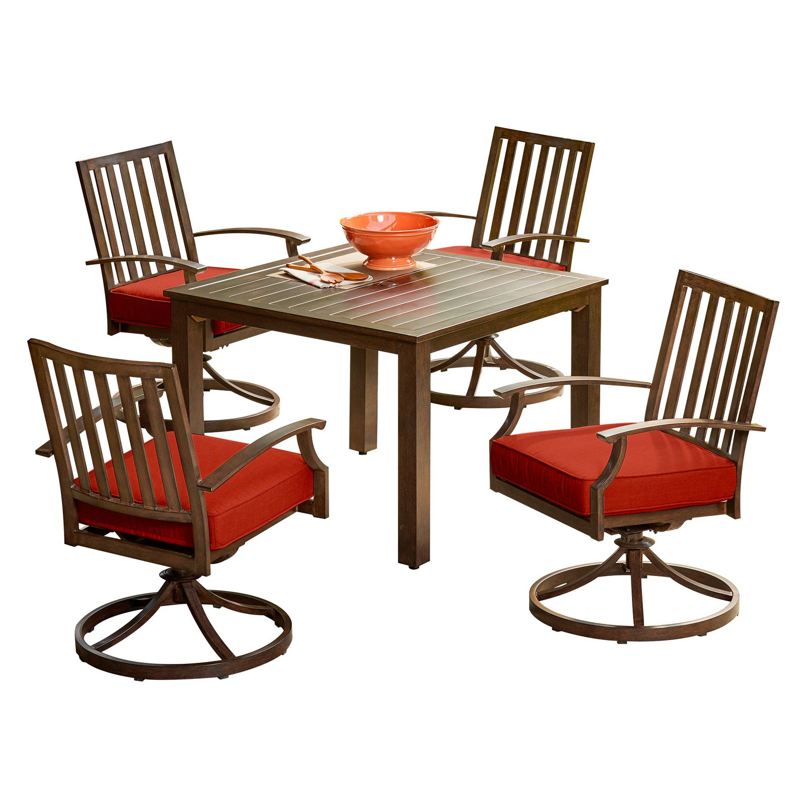 Fashionable Outdoor Royal Garden Bridgeport Aluminum 5 Piece Motion Patio Dining With Regard To Saintcroix 3 Piece Dining Sets (View 4 of 25)