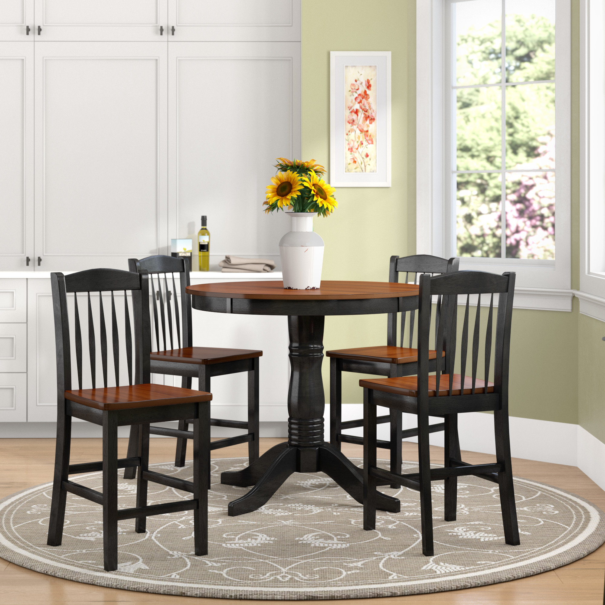 Fashionable Pattonsburg 5 Piece Dining Sets With Regard To August Grove Tighe 5 Piece Dining Set & Reviews (View 4 of 25)