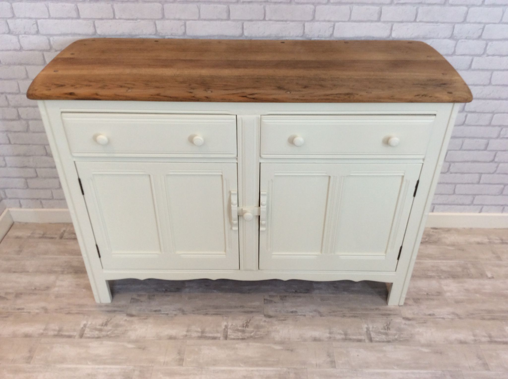Fashionable Poynter 3 Piece Drop Leaf Dining Sets Regarding Original Ercol Sideboard, Stripped And Painted – Looking Good! (View 17 of 25)