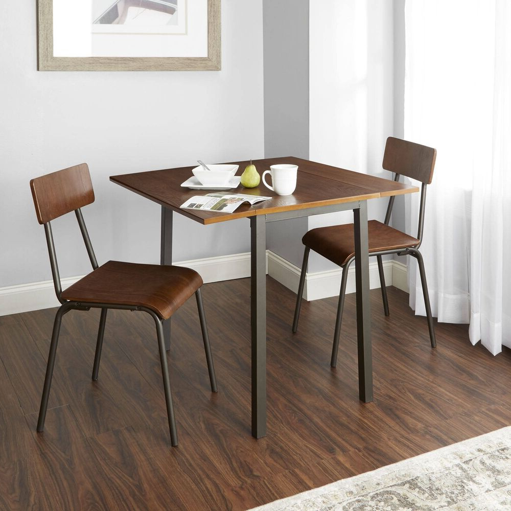 Fashionable Smyrna 3 Piece Dining Sets Intended For Breakfast Nook Dining Set 3 Piece Wood And Amp; Metal Table And (View 10 of 25)