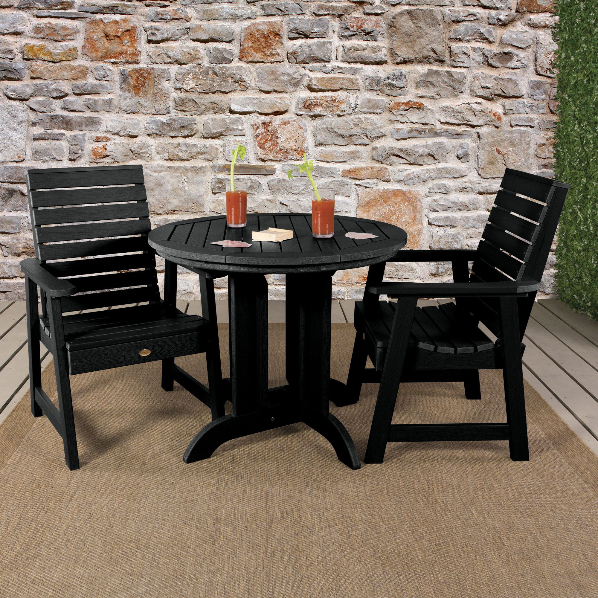 Favorite Anette 3 Piece Counter Height Dining Sets Regarding Darby Home Co Berry 3 Piece Bistro Set (View 16 of 25)