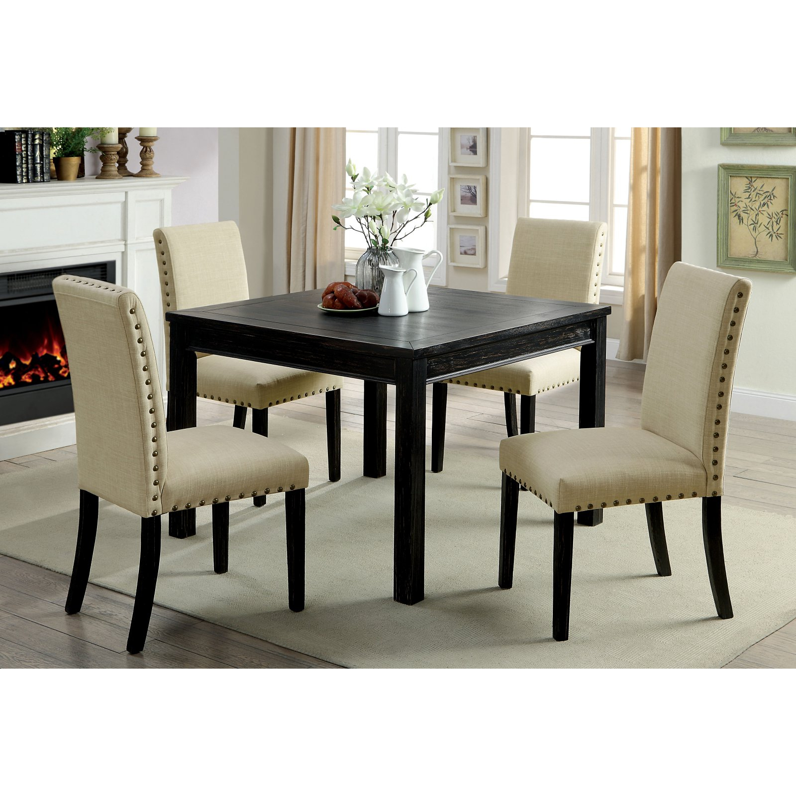 Favorite Ephraim 5 Piece Dining Sets Intended For Furniture Of America Verdugo 5 Piece Rustic Dining Table Set (View 9 of 25)