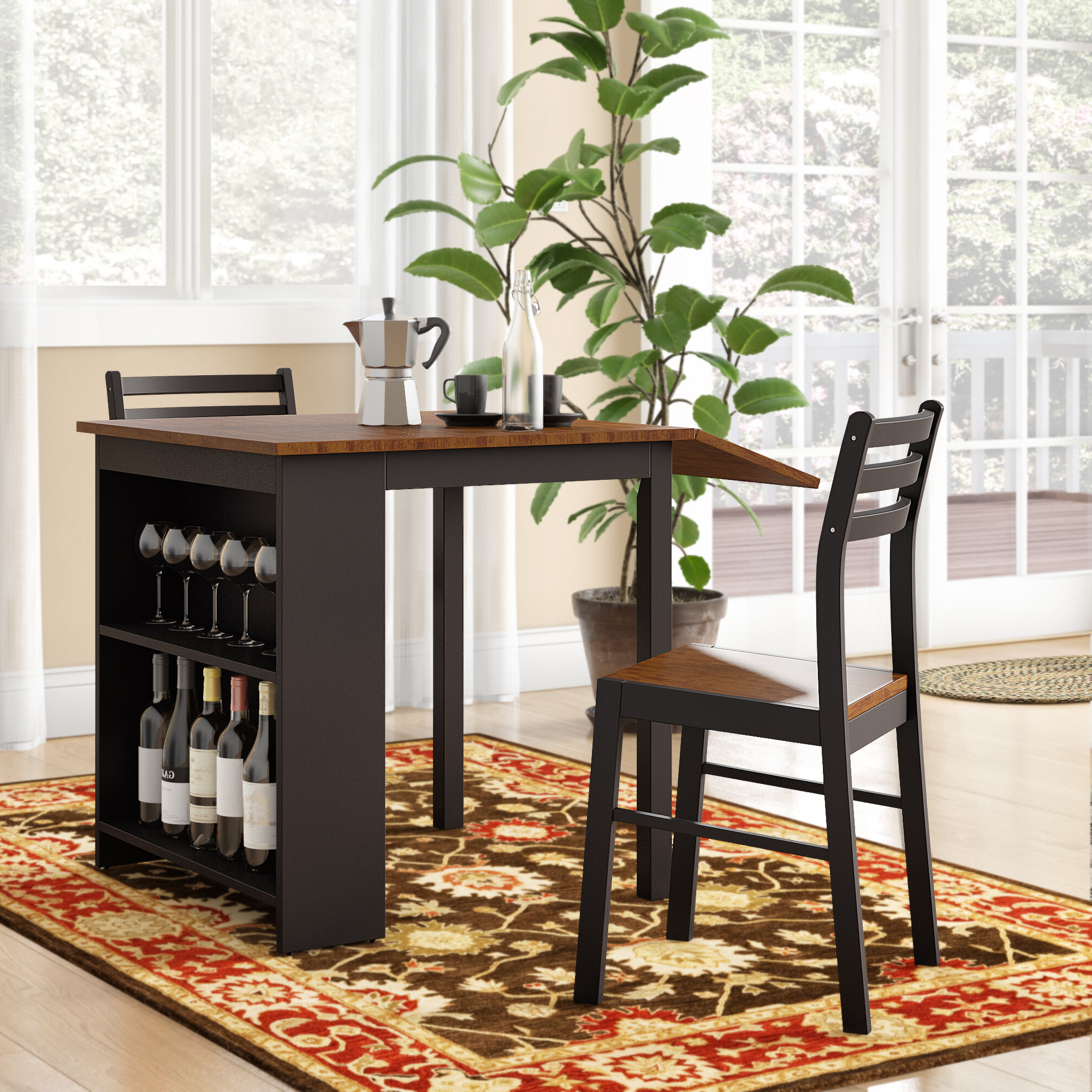 Favorite Isolde 3 Piece Dining Sets Intended For Andover Mills Boehmer 3 Piece Dining Set & Reviews (View 4 of 25)
