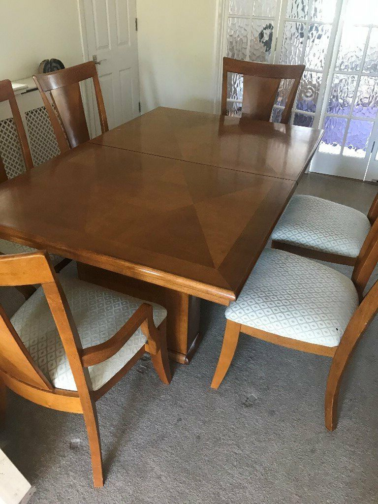 Favorite Lonon 3 Piece Dining Sets Intended For Large Extendable Maple Wood Dining Room Table,  (View 8 of 25)