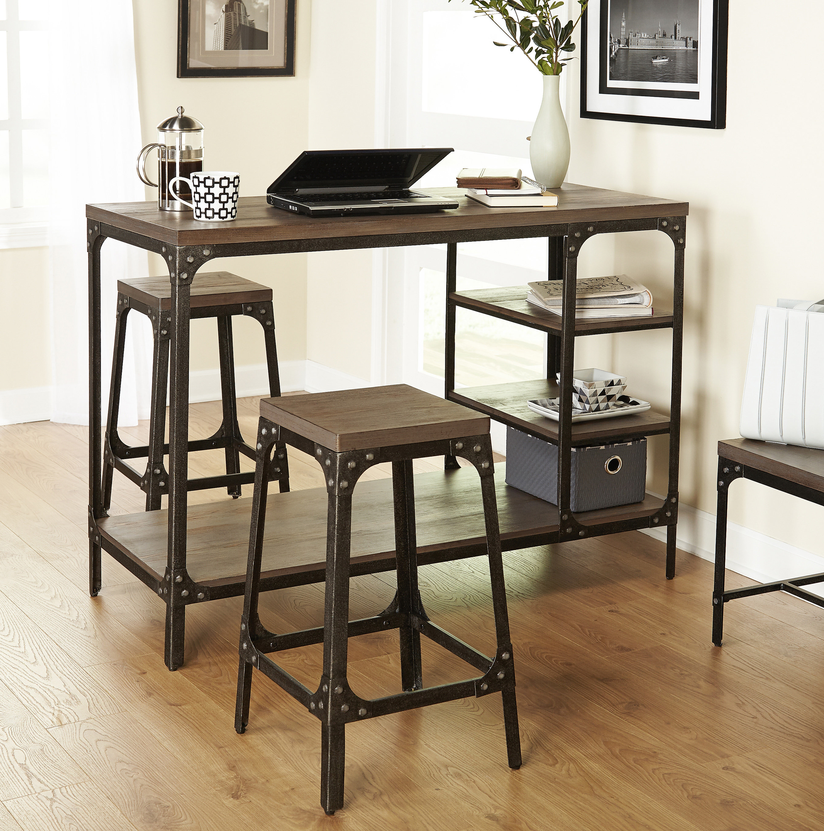 Favorite Terence 3 Piece Breakfast Nook Dining Set & Reviews (View 19 of 25)