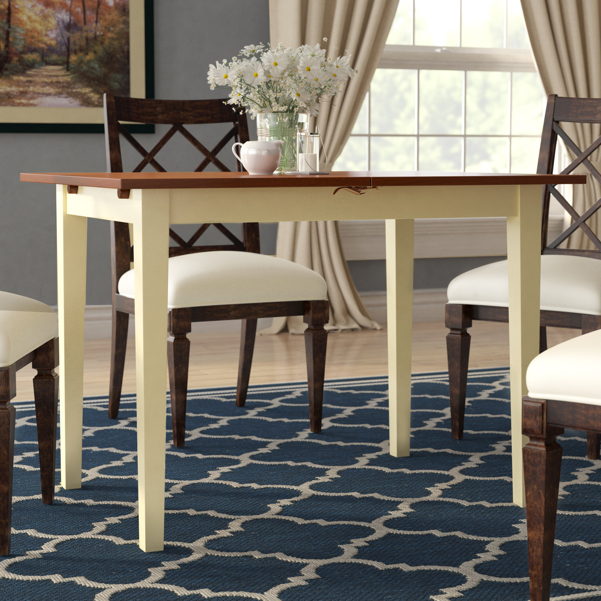 Favorite West Hill Family Table 3 Piece Dining Sets With Regard To Andover Mills Balfor Extendable Solid Wood Dining Table (View 9 of 25)
