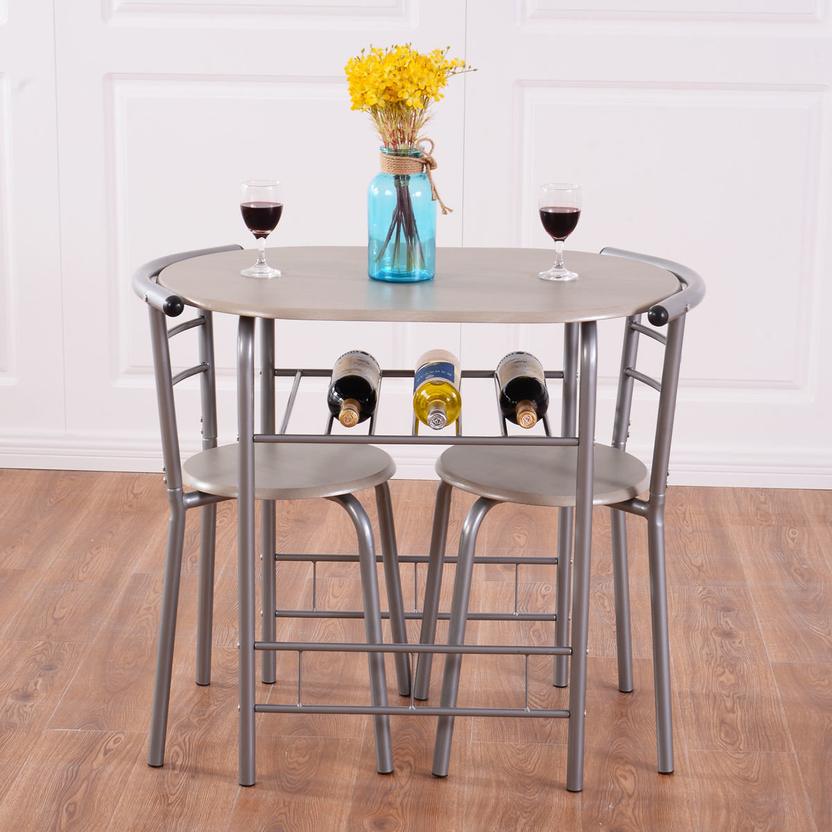 Favorite Winston Porter Strock 3 Piece Dining Set & Reviews (View 8 of 25)