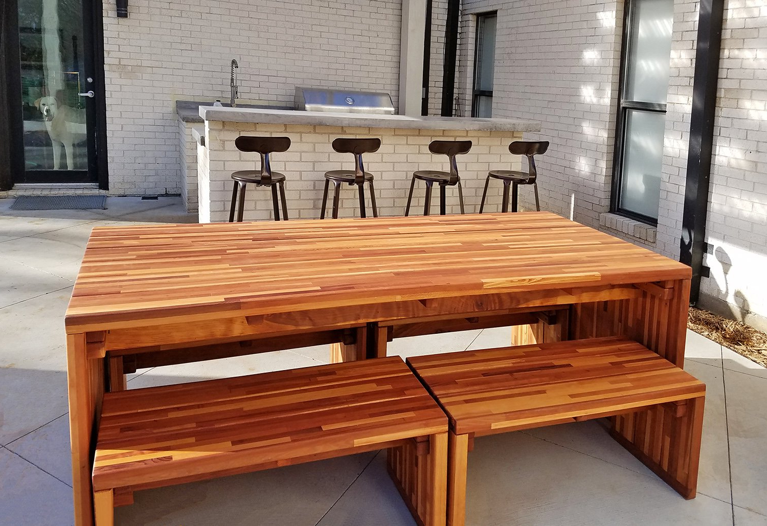 Forever Redwood Pertaining To Most Up To Date Maynard 5 Piece Dining Sets (View 6 of 25)