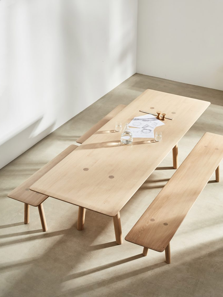 Foster+Partners Launches Range Of Solid Wood Furniture Regarding Widely Used Sundberg 5 Piece Solid Wood Dining Sets (View 16 of 25)