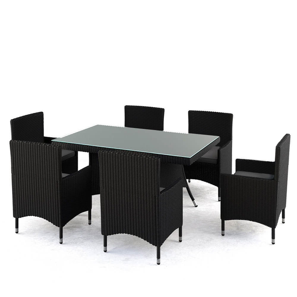 Frida 3 Piece Dining Table Sets With Regard To 2020 Cooper W/ Frida Table Wicker Outdoor Dining Setting – Black (View 15 of 25)