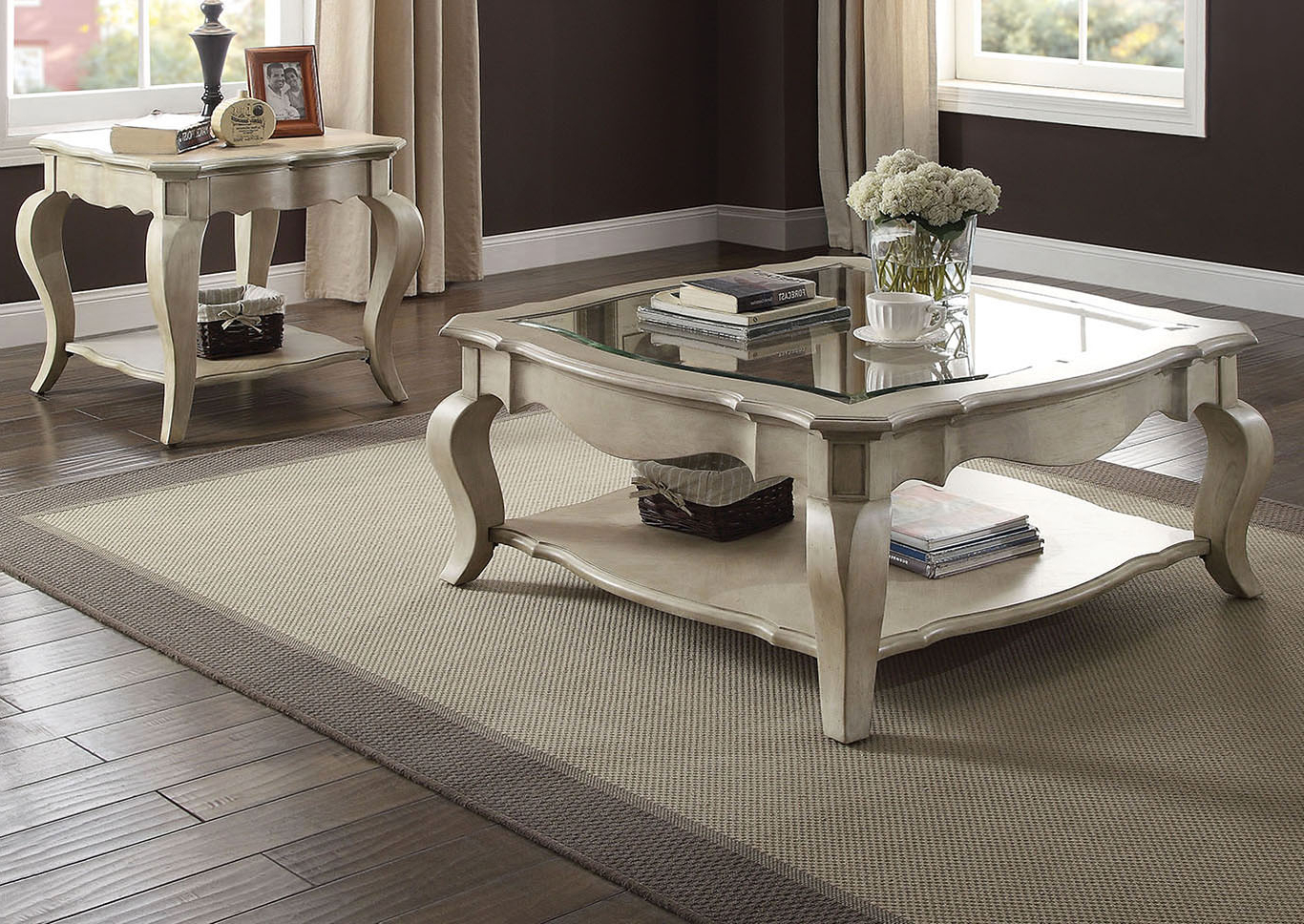 Furniture & Mattress Outlet Chelmsford Antique Taupe/glass Inlay With Regard To Fashionable Chelmsford 3 Piece Dining Sets (View 7 of 25)