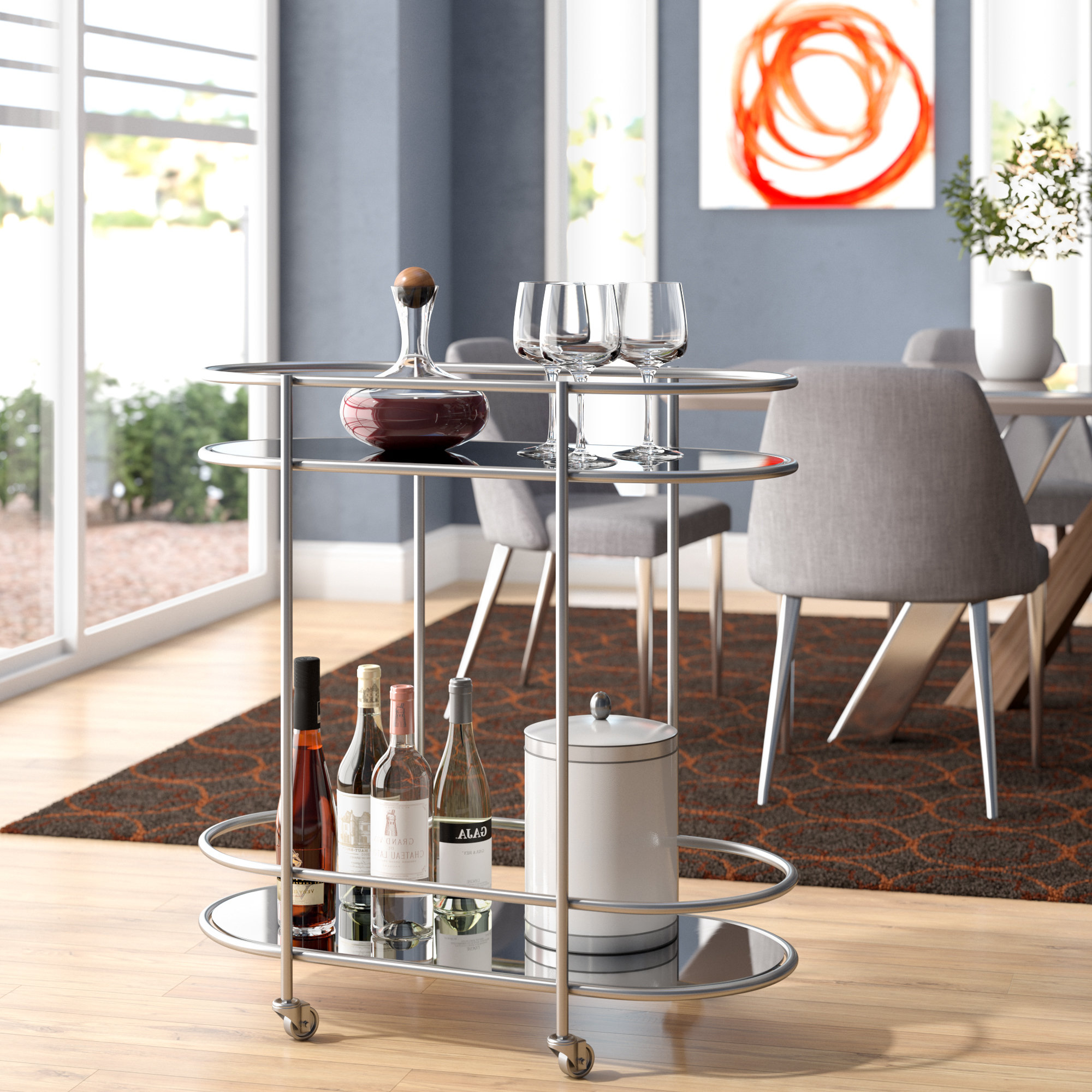 Ganya 5 Piece Dining Sets Inside Most Current Emsworth Bar Cart & Reviews (View 20 of 25)