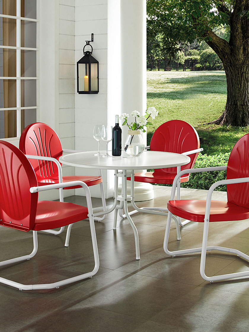 Gardeners Regarding Bate Red Retro 3 Piece Dining Sets (View 20 of 25)