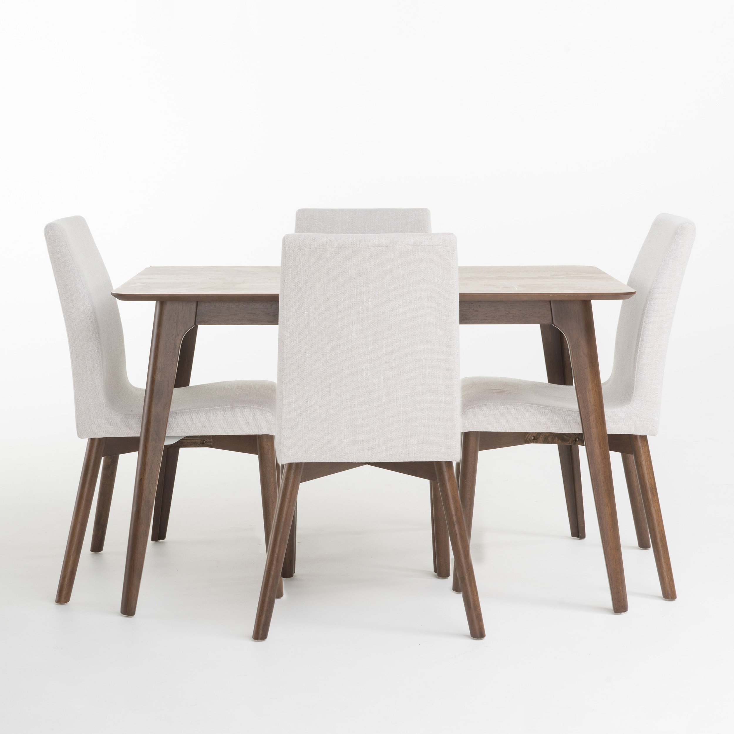 Goodman 5 Piece Solid Wood Dining Sets (Set Of 5) In Widely Used Liles 5 Piece Dining Set & Reviews (View 11 of 25)