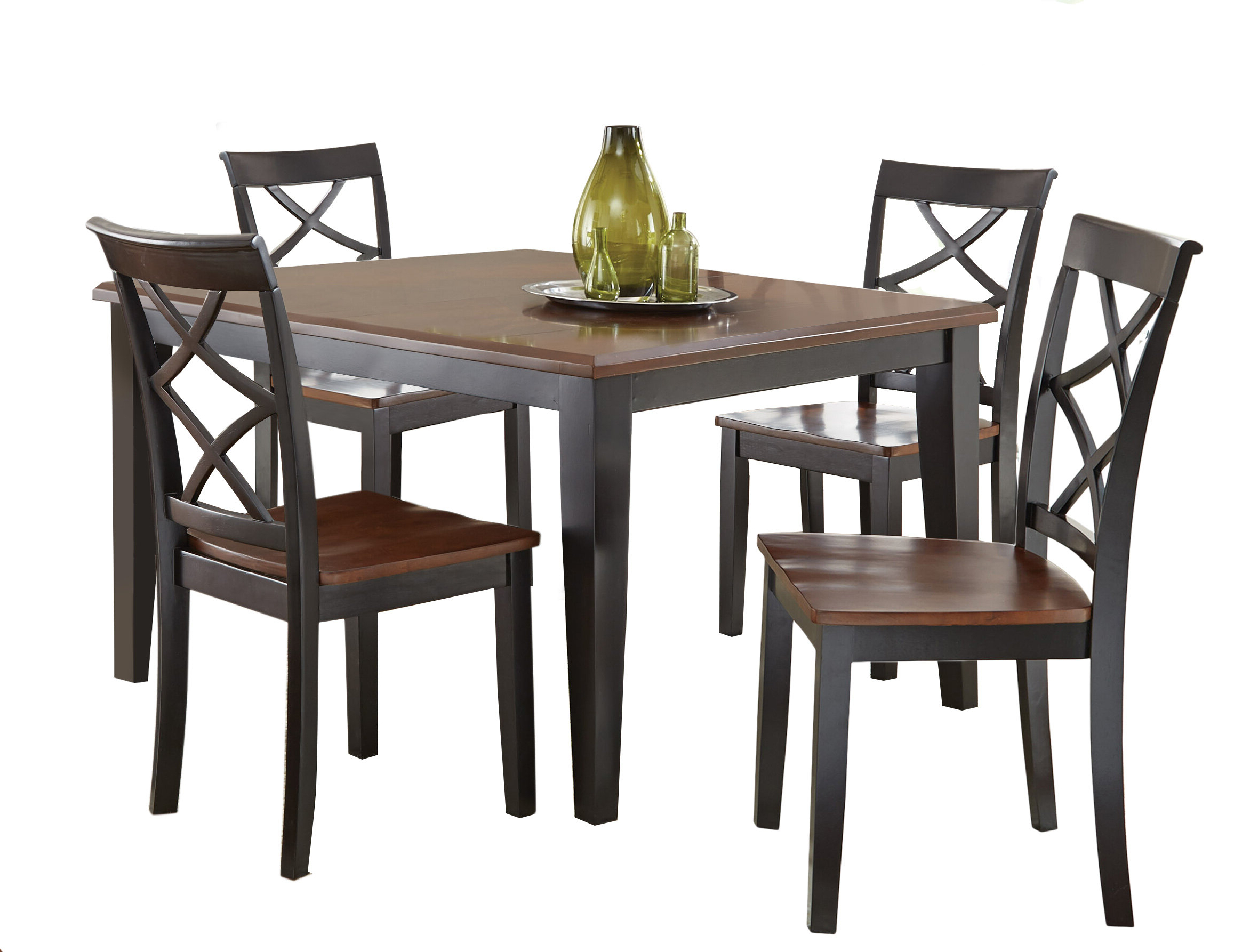 Goodman 5 Piece Solid Wood Dining Sets (Set Of 5) Intended For Most Up To Date Charlton Home Ari 5 Piece Drop Leaf Dining Set & Reviews (View 7 of 25)