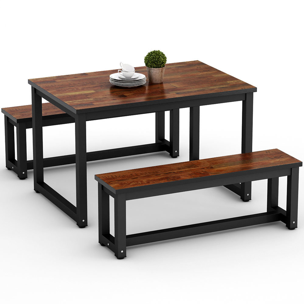 Gracie Oaks Parikh 3 Piece Dining Set (View 8 of 25)