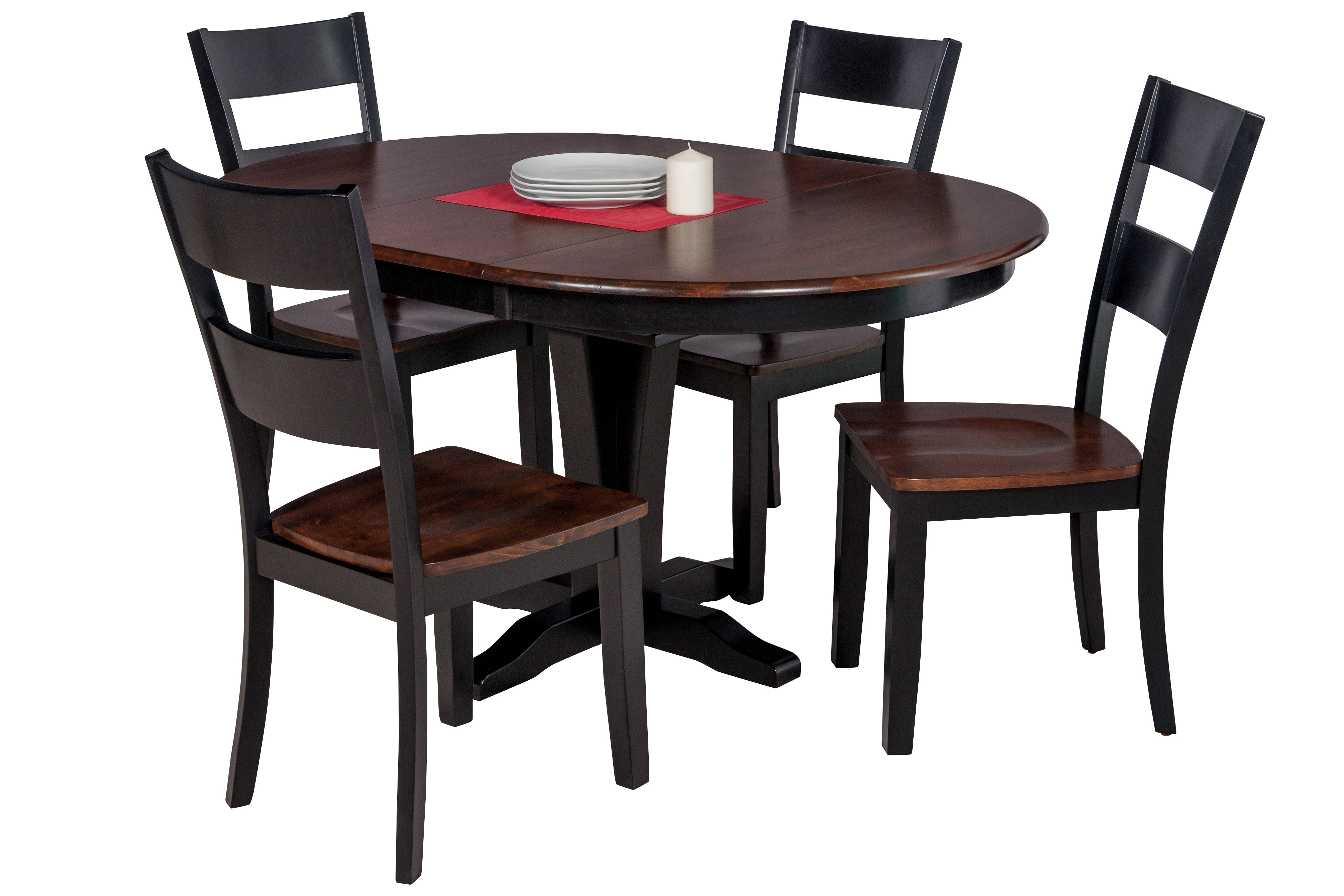 Hanska Wooden 5 Piece Counter Height Dining Table Sets (Set Of 5) With Well Known Darby Home Co Maryrose 5 Piece Solid Wood Dining Set With Butterfly (Gallery 5 of 25)