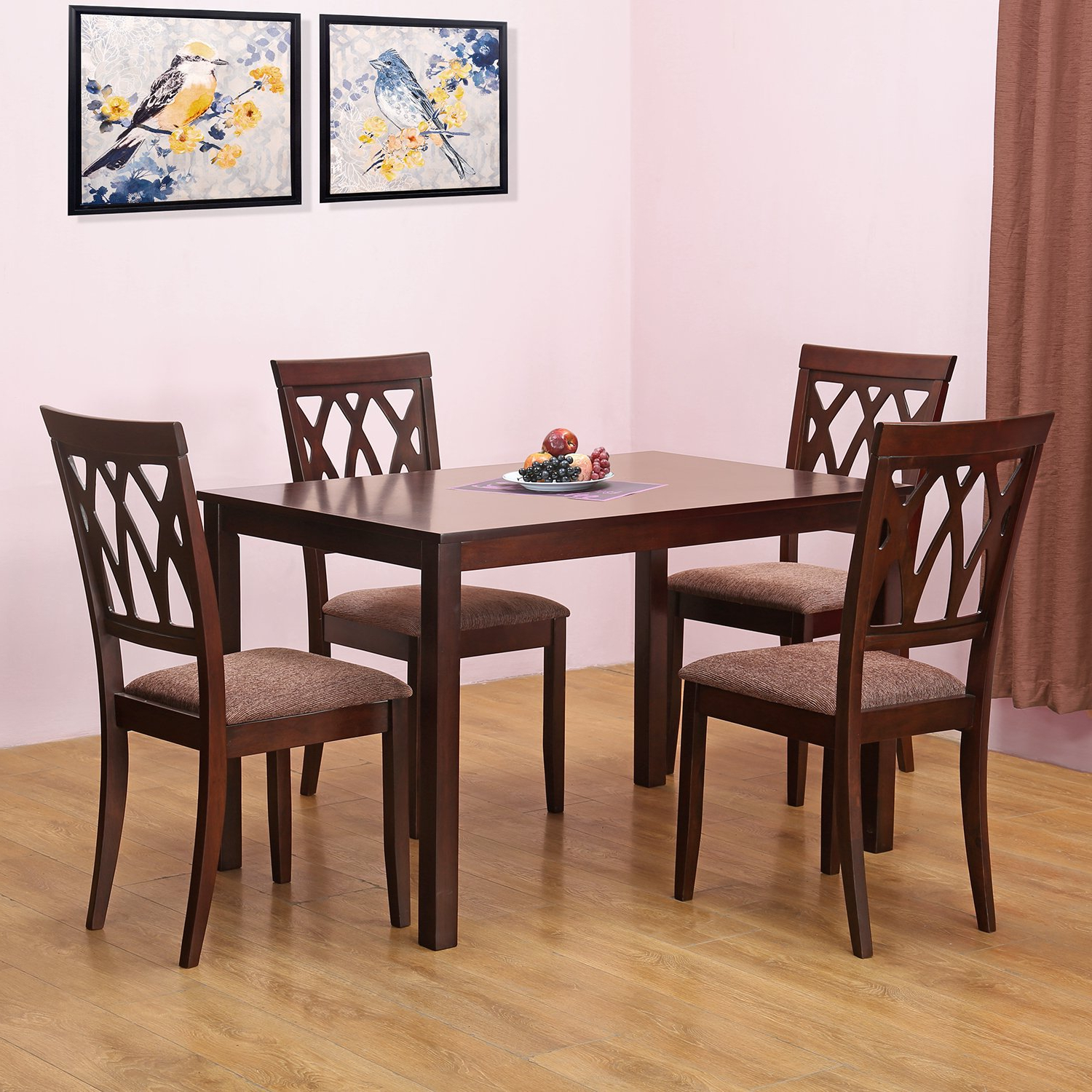 Homenilkamal Peak Four Seater Dining Table Set (Cappucino Throughout Well Known Frida 3 Piece Dining Table Sets (View 16 of 25)