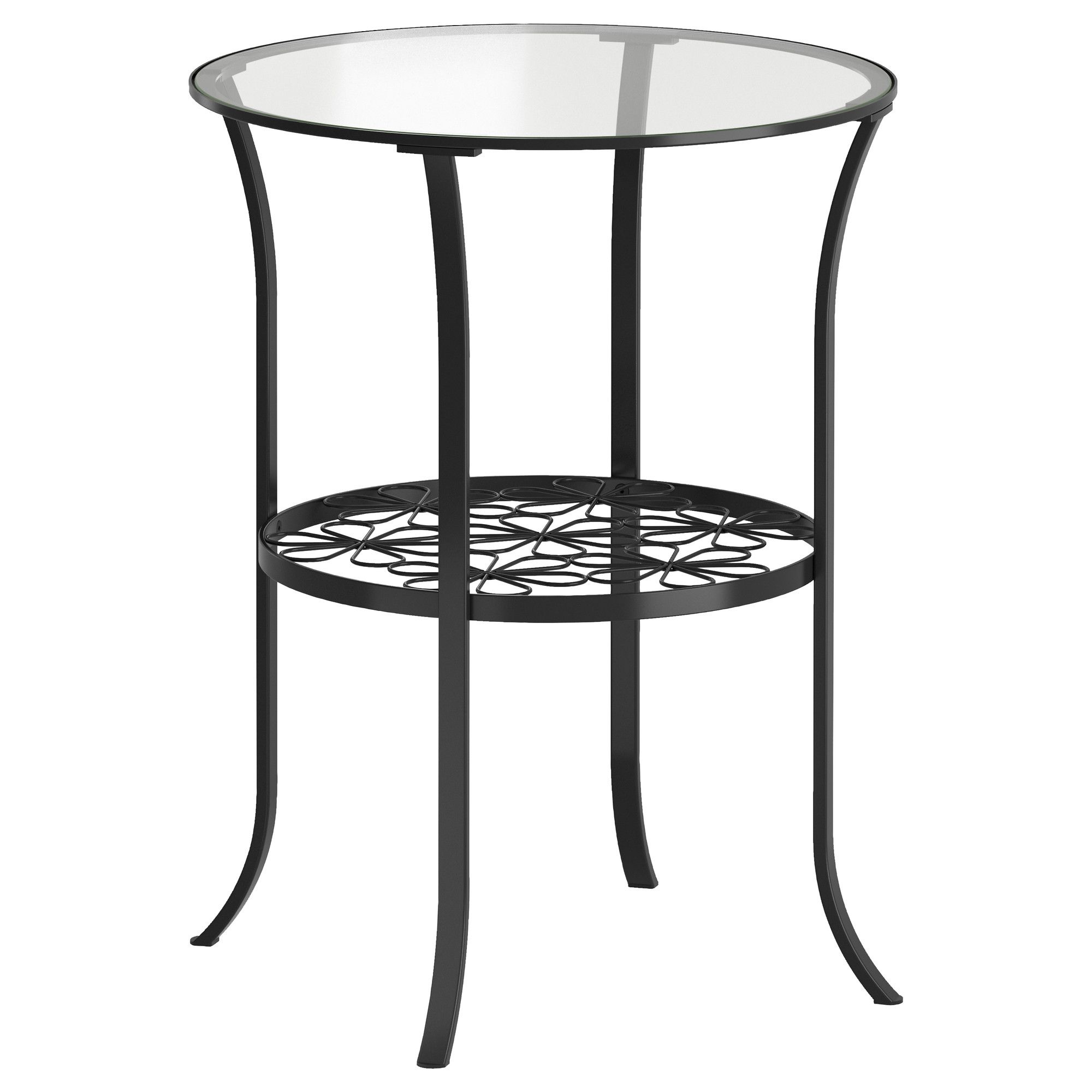 Ikea Klingsbo Black, Clear Glass Side Table (Gallery 18 of 25)