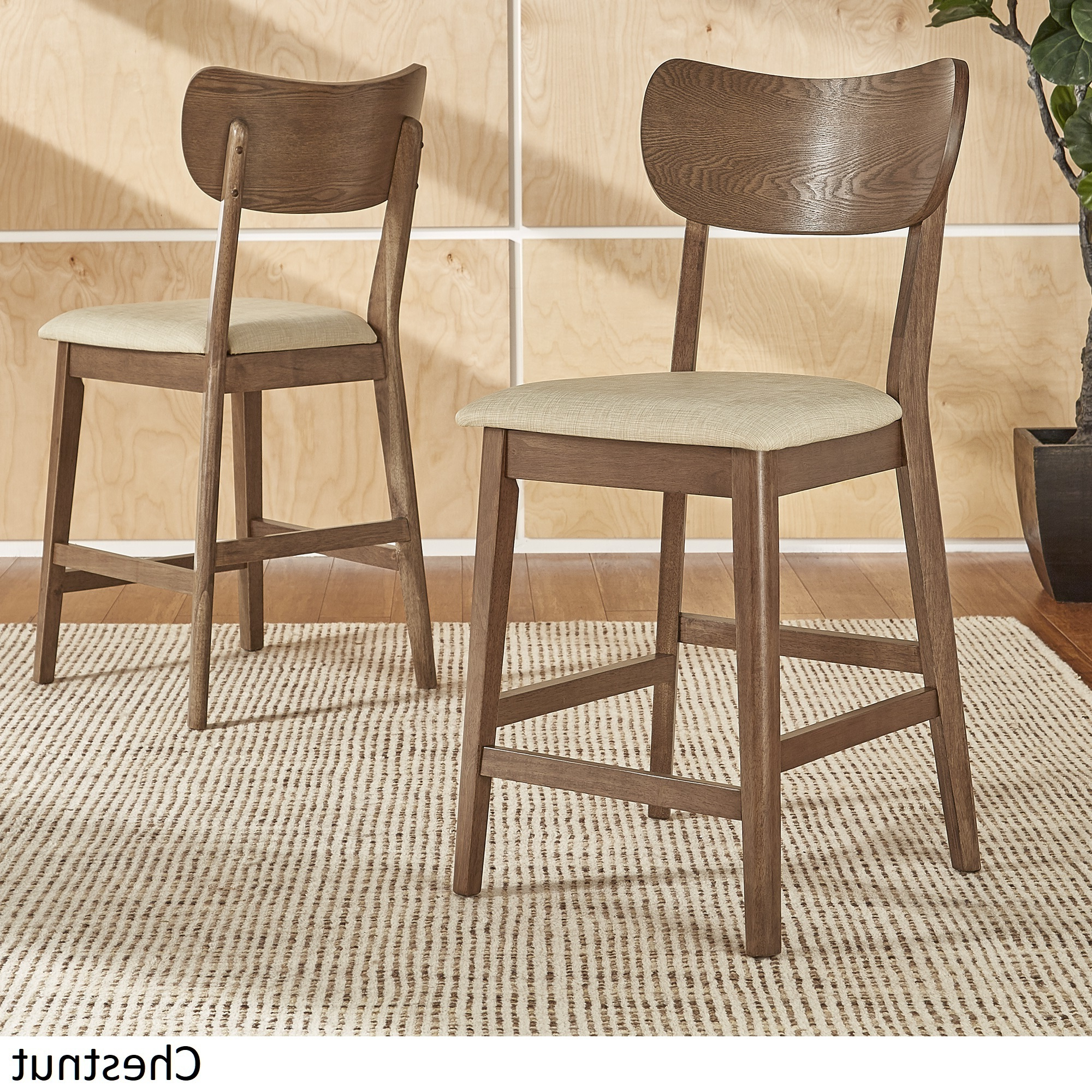 Inspire Q Penelope Danish Modern Tapered Leg Counter Ight Chair (Set With Well Known Penelope 3 Piece Counter Height Wood Dining Sets (Gallery 21 of 25)