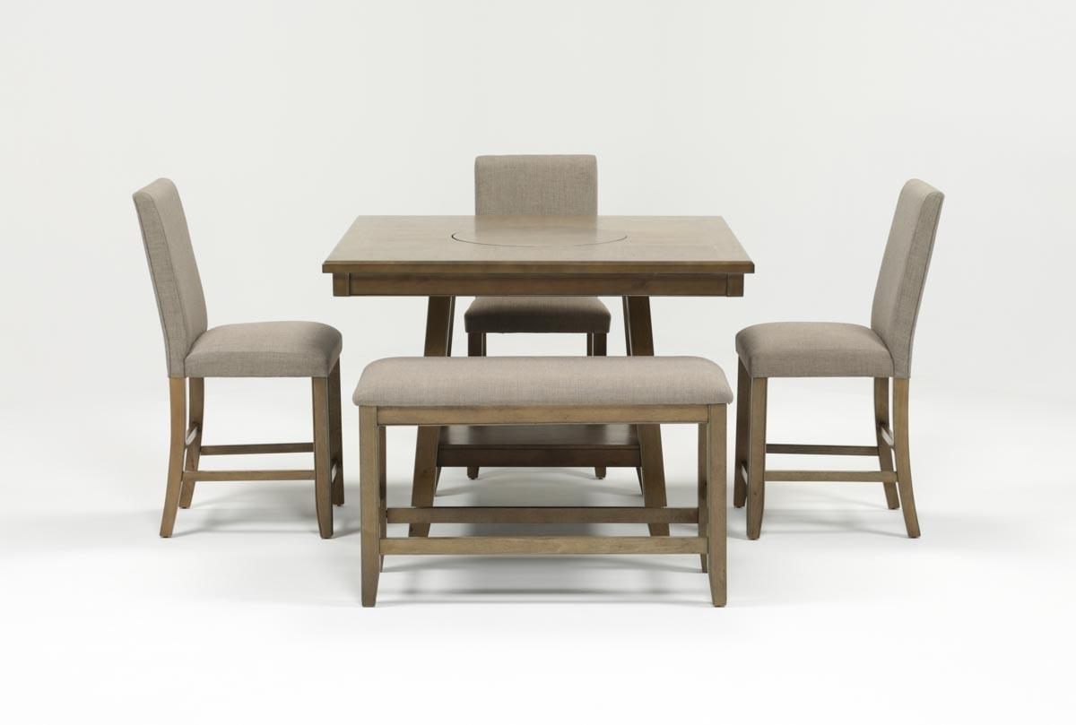 Jarrod 5 Piece Dining Sets Inside Most Up To Date Hyland 5 Piece Counter Set With Bench (Gallery 13 of 25)