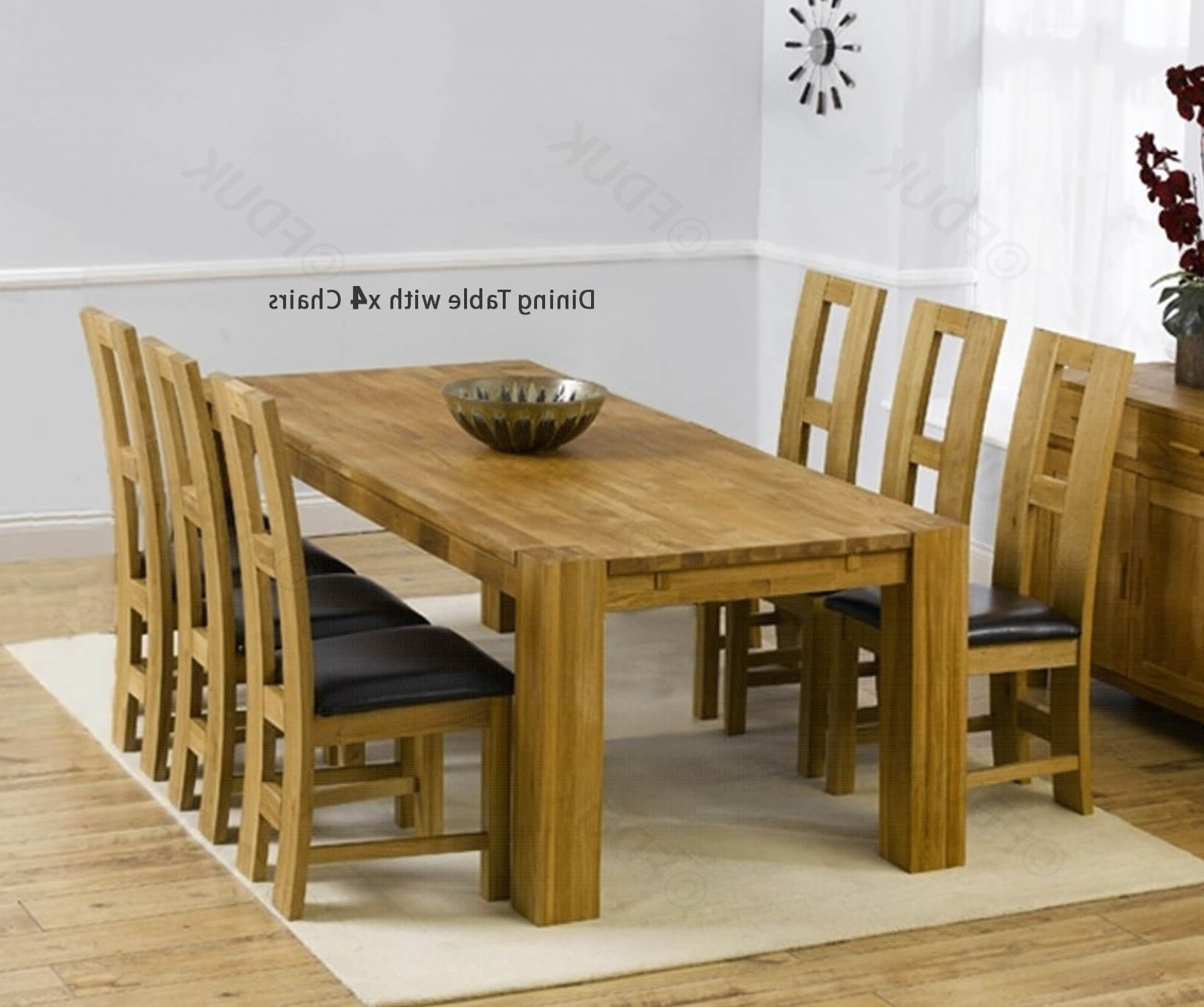 John 4 Piece Dining Sets Intended For 2020 Mark Harris Madrid Solid Oak Dining Set – 200Cm Rectangular (Gallery 4 of 25)