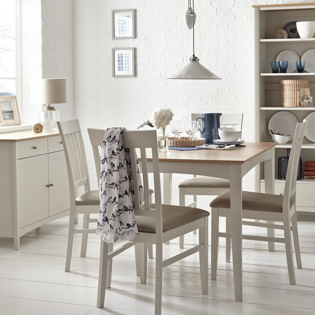 John 4 Piece Dining Sets Intended For Fashionable Dining Tables For Tiny Spaces – The Furniture Co (Gallery 22 of 25)