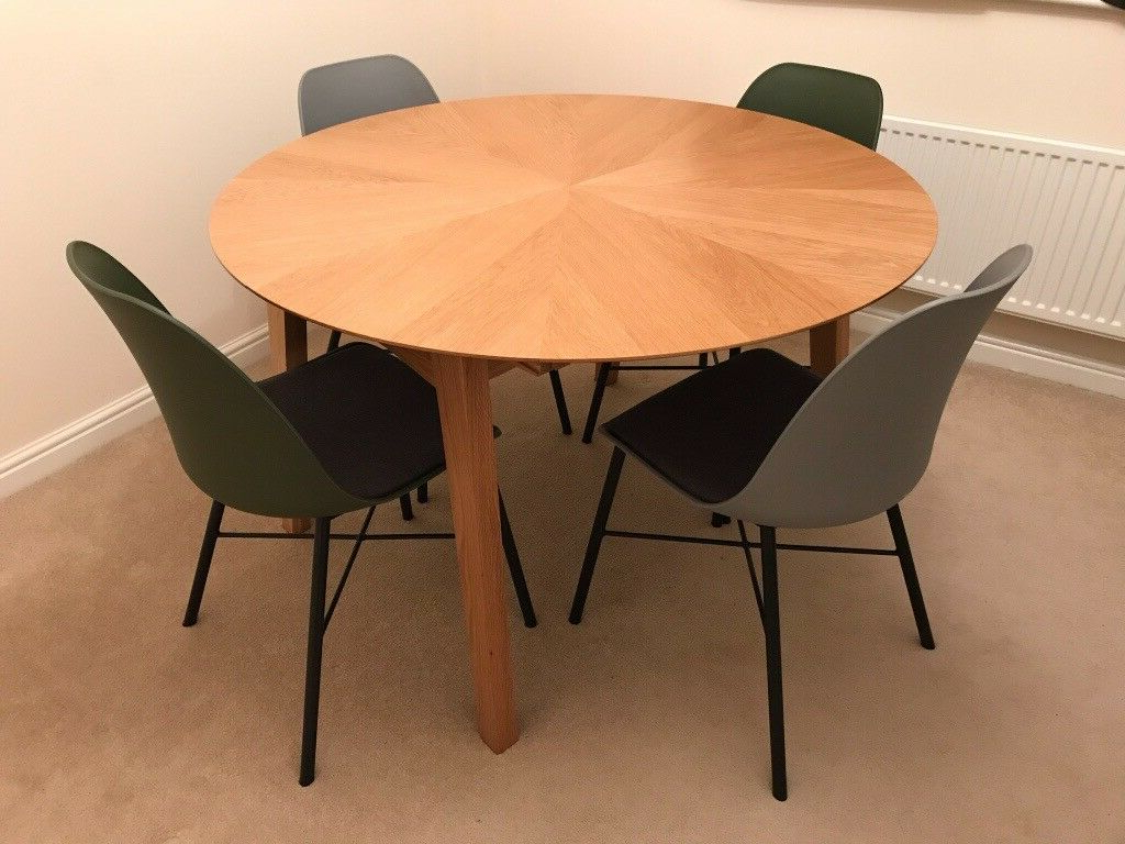 John Lewis Duhrer Extending Dining Table - Seats 4-6 - Excellent in Popular John 4 Piece Dining Sets