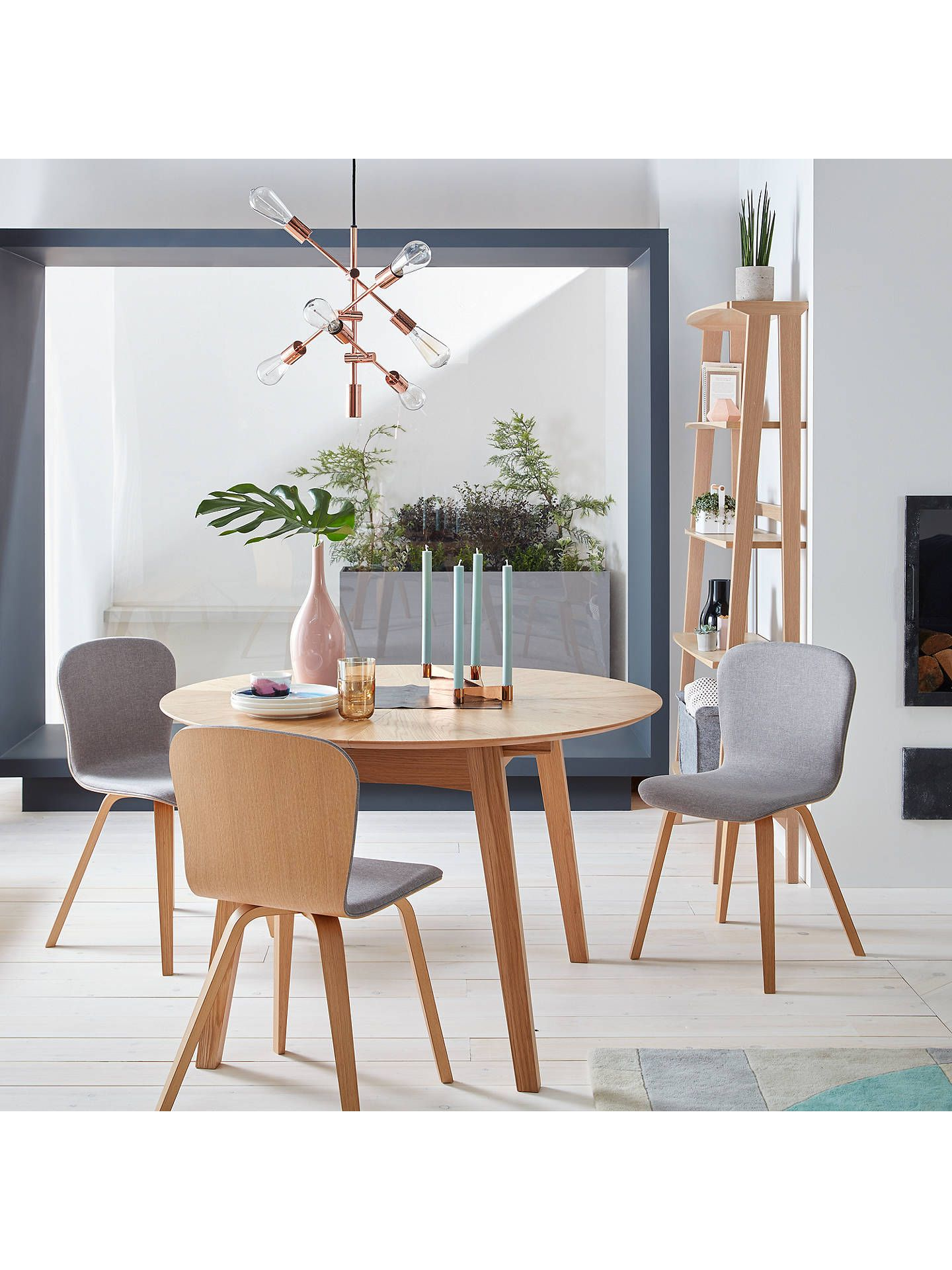 John Lewis & Partners Duhrer 4 6 Seater Extending Round Dining Table Pertaining To Favorite John 4 Piece Dining Sets (View 6 of 25)