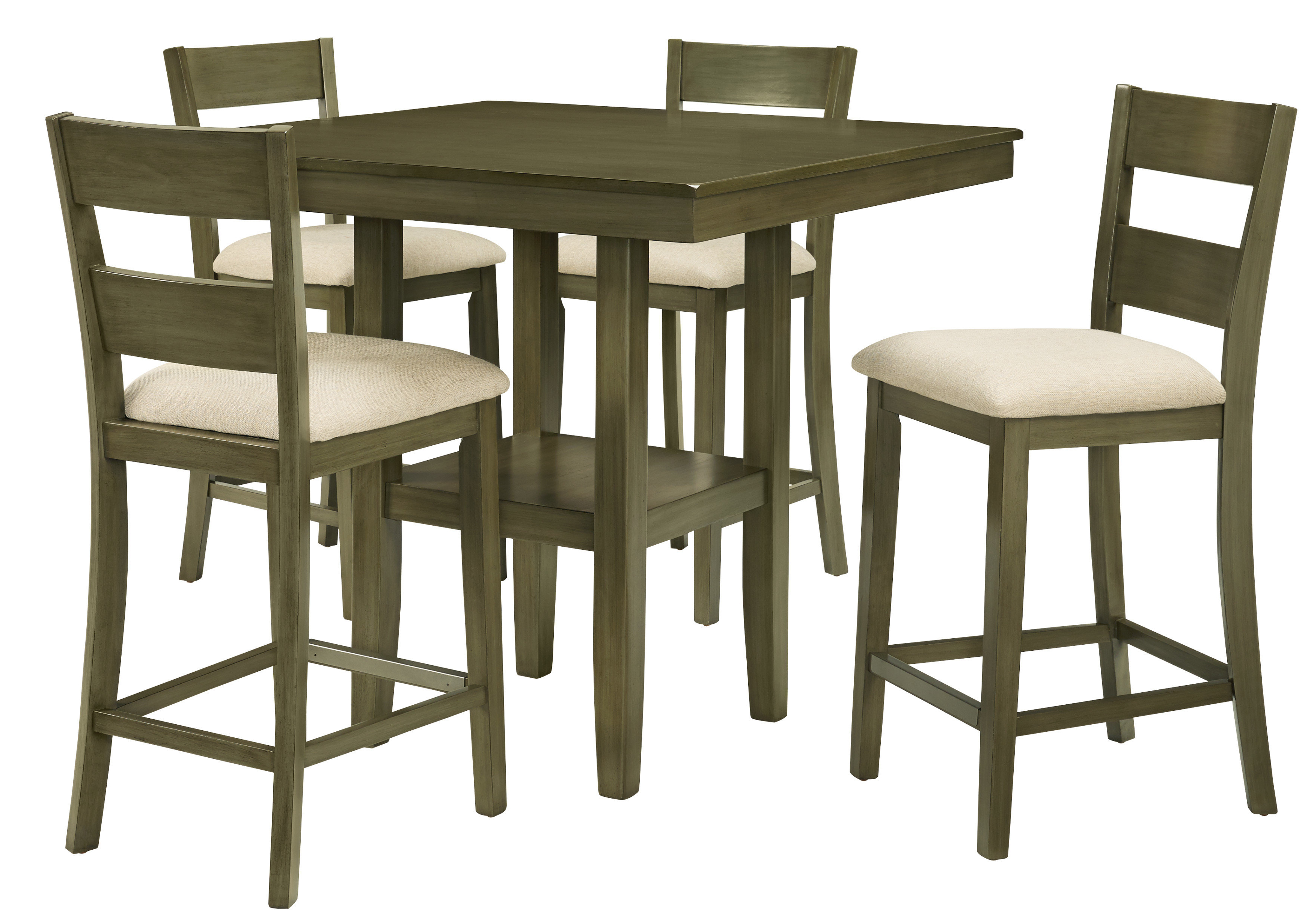Joss & Main In Bettencourt 3 Piece Counter Height Solid Wood Dining Sets (View 10 of 25)