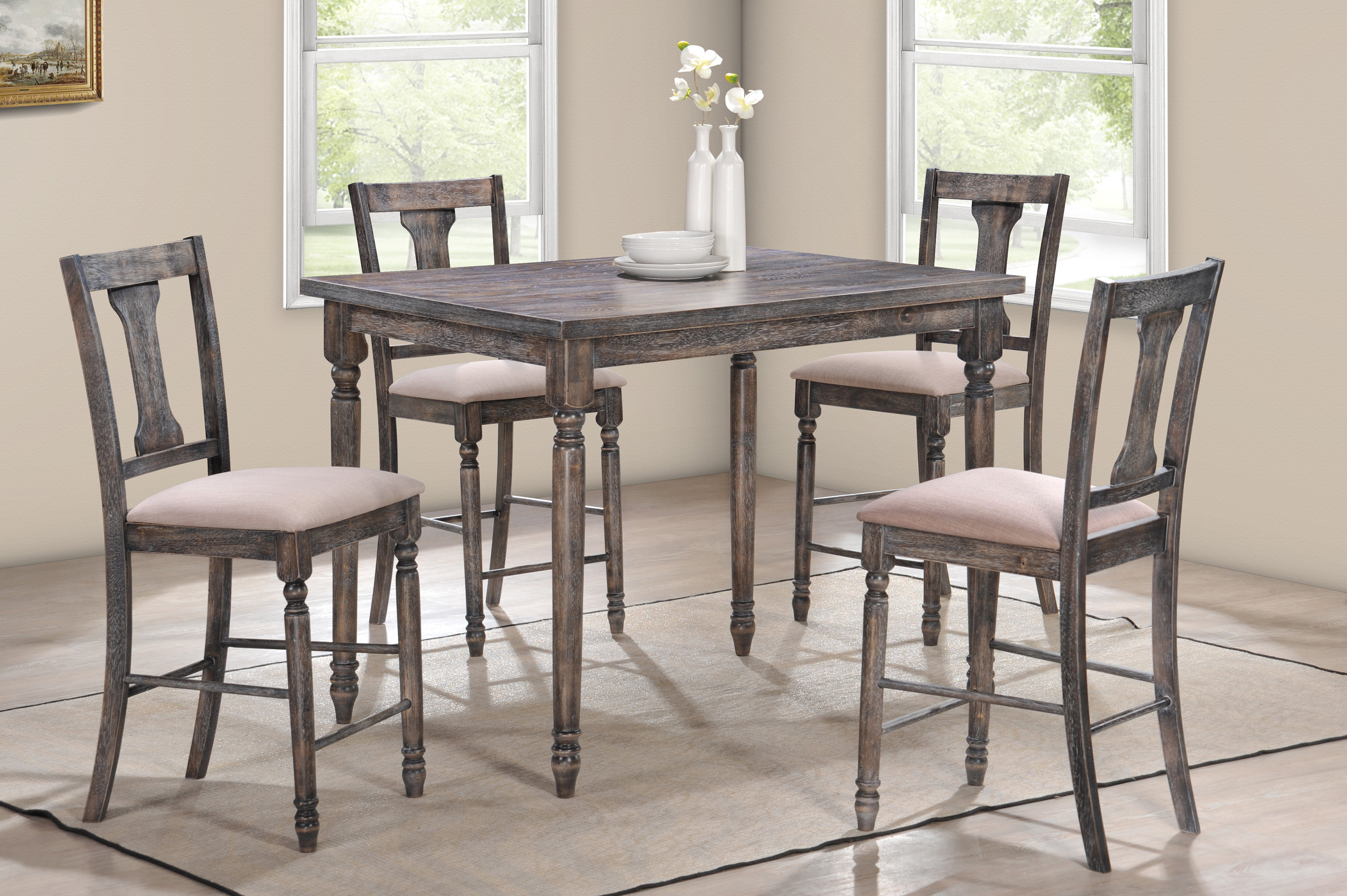 Joss & Main Within Favorite Goodman 5 Piece Solid Wood Dining Sets (Set Of 5) (View 12 of 25)