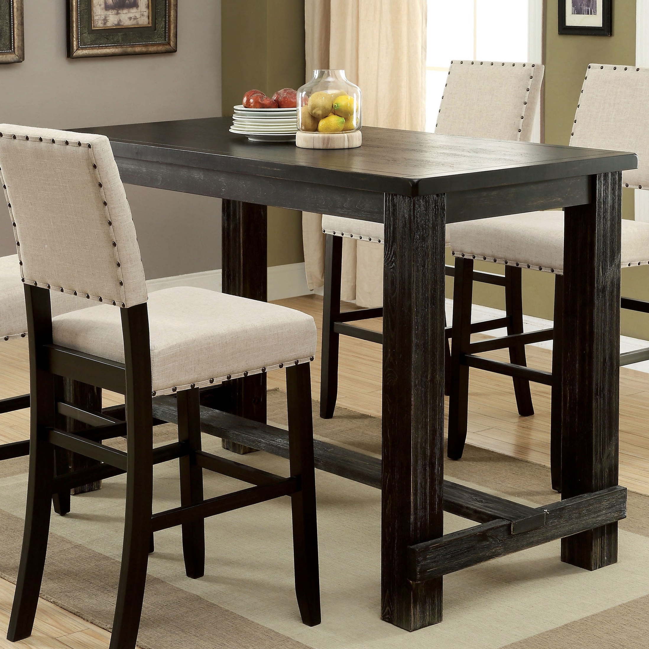 Kaya 3 Piece Dining Sets Throughout Widely Used Buy Bar & Pub Tables Online At Overstock (View 9 of 25)