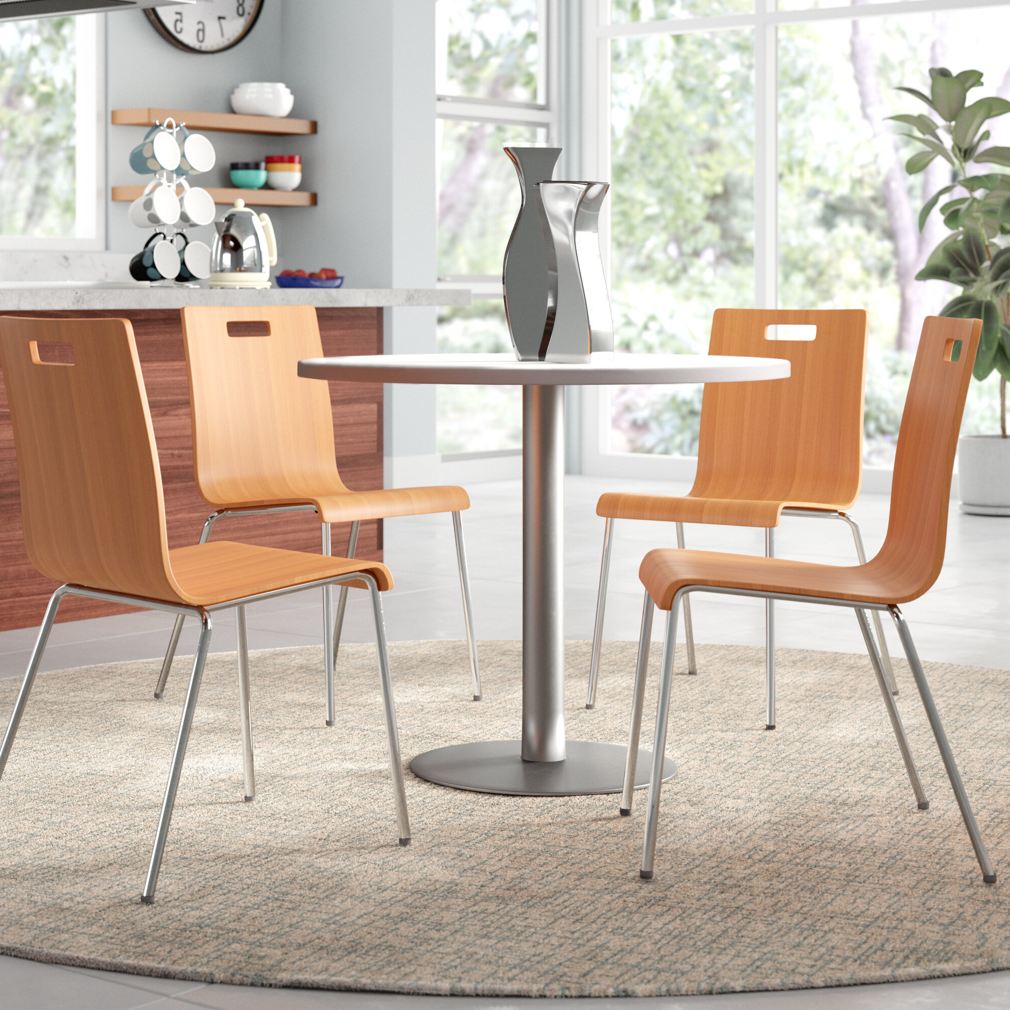 Kfi Seating 5 Piece Dining Set & Reviews (Gallery 2 of 25)