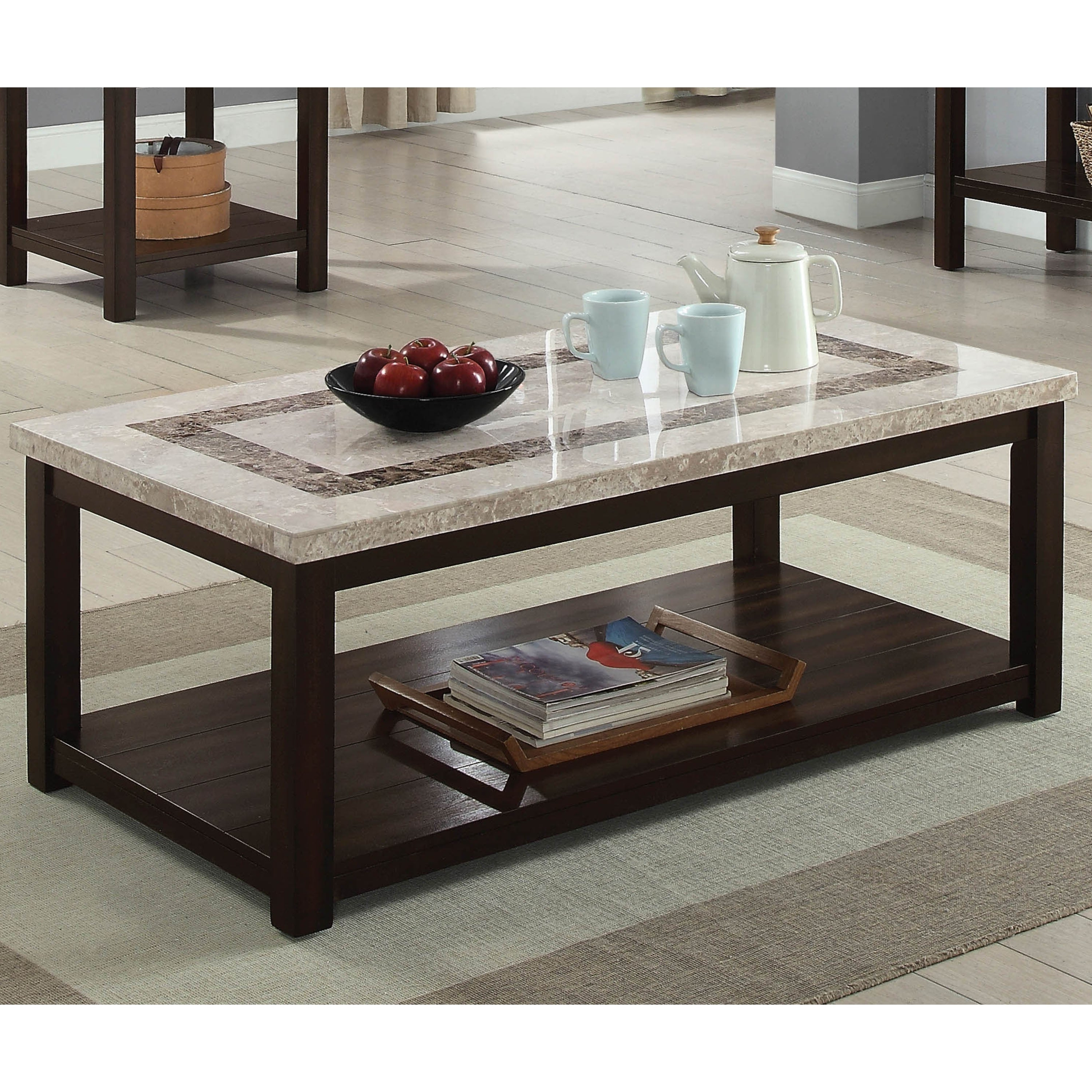 Kinsler 3 Piece Bistro Sets Throughout Widely Used Marble Furniture (View 11 of 25)