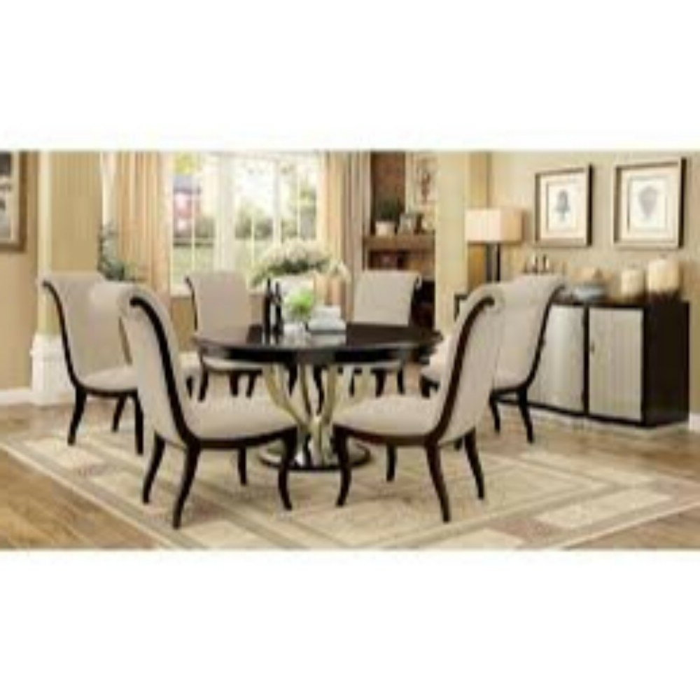 Laconia 7 Pieces Solid Wood Dining Sets (Set Of 7) For Popular Winston Porter Moreno Contemporary 7 Piece Extendable Solid Wood (View 17 of 25)