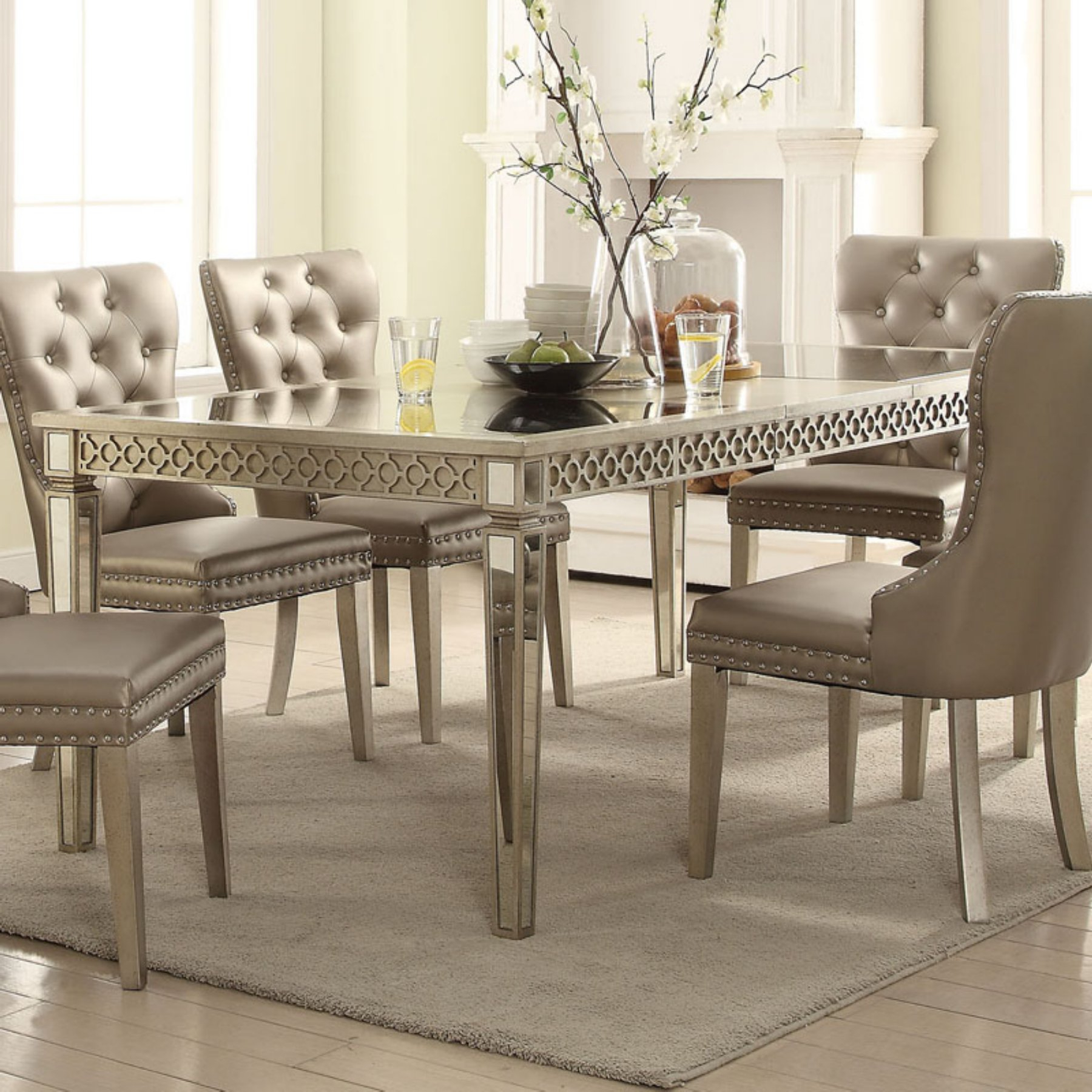 Lamotte 5 Piece Dining Sets For Well Liked Acme Furniture Kacela Extension Dining Table (View 3 of 25)