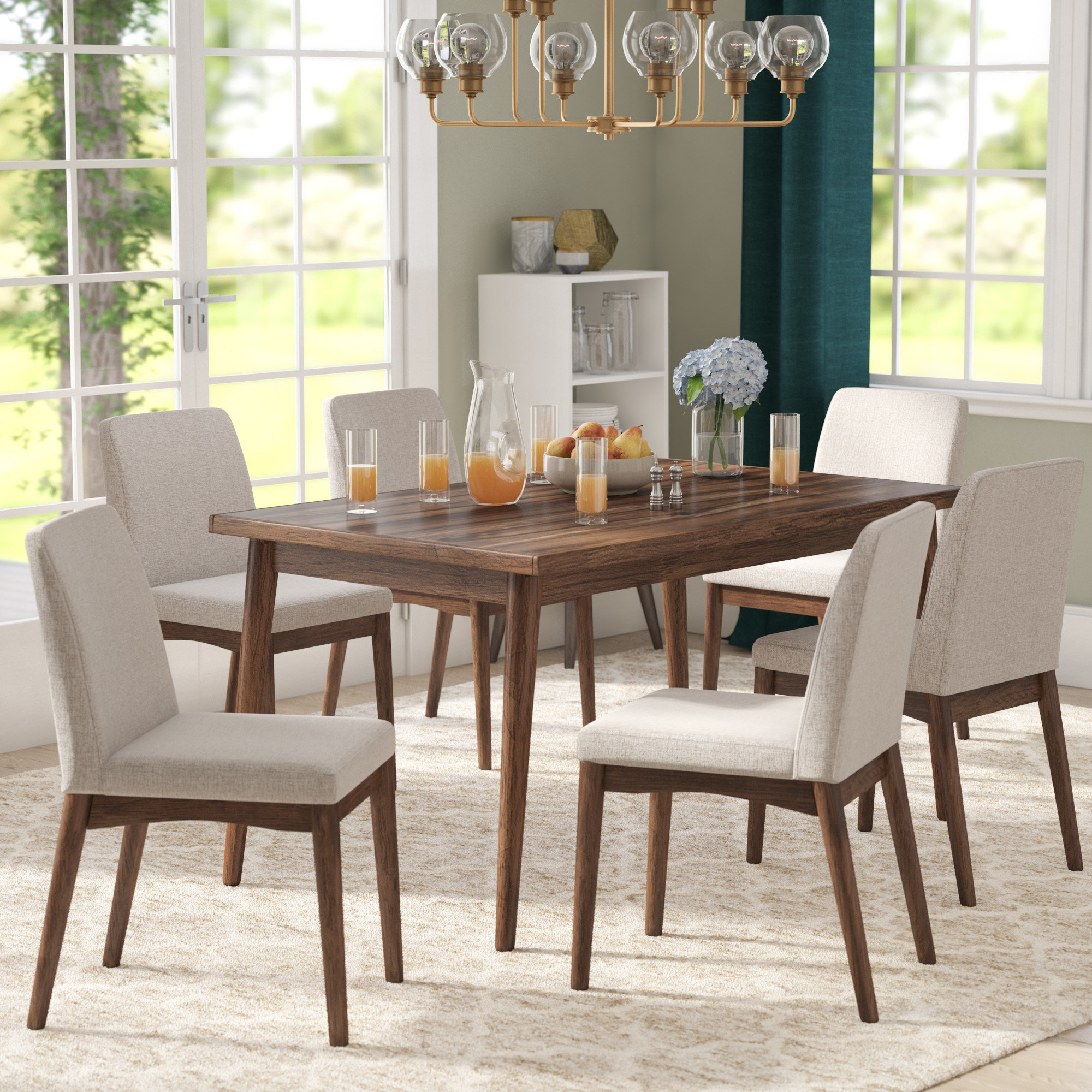 Langley Street Lydia 7 Piece Dining Set & Reviews (View 18 of 25)