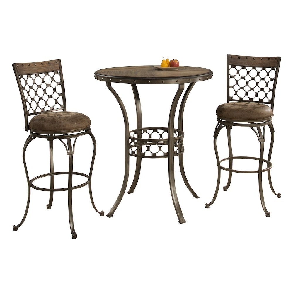 Lannis 3 Piece Bar Height Bistro Dining Set Intended For Newest Bedfo 3 Piece Dining Sets (View 12 of 25)