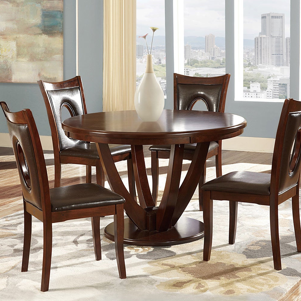 Latest Biggs 5 Piece Counter Height Solid Wood Dining Sets (Set Of 5) Throughout Shop Miraval Cherry Brown Round Dining Tableinspire Q Classic (View 18 of 25)