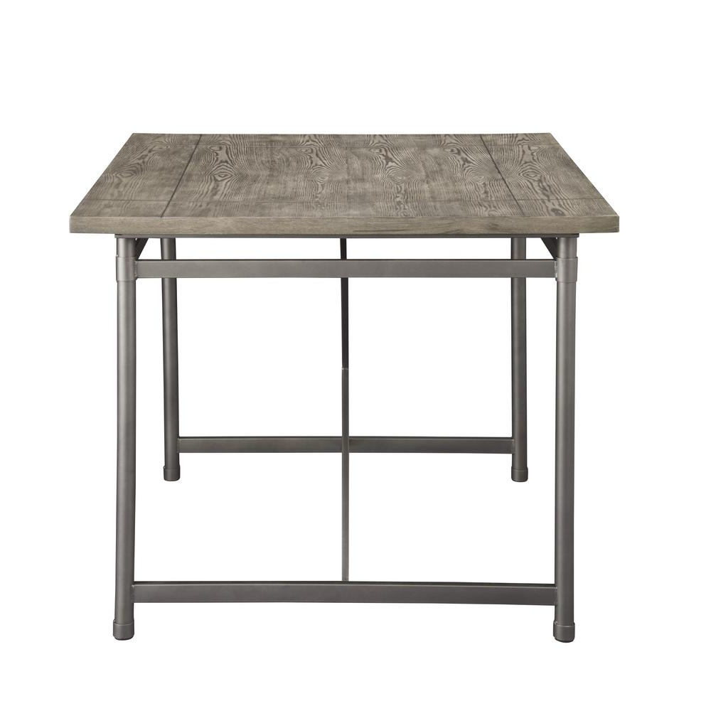 Latest Kaelin 5 Piece Dining Sets With Regard To Acme Furniture Kaelyn Ii Gray Oak And Sandy Gray Counter Height (View 15 of 25)