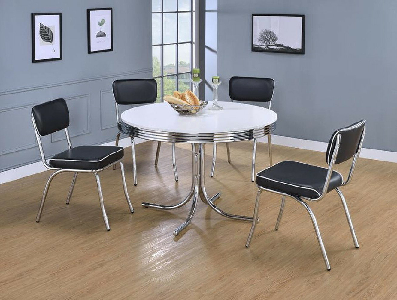 Latest Lillard 3 Piece Breakfast Nook Dining Sets Inside Orren Ellis Yother 5 Piece Dining Set (View 7 of 25)
