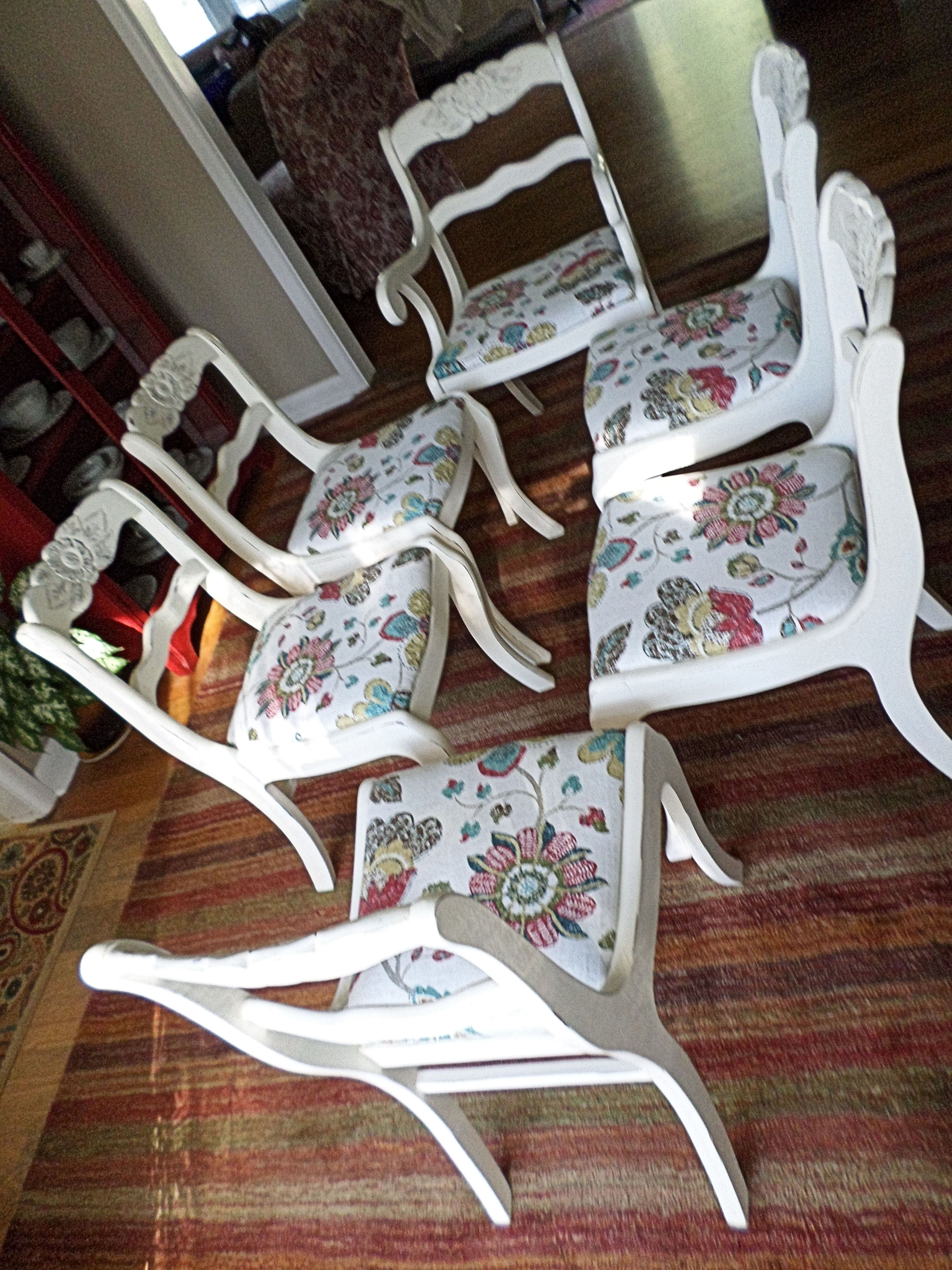 Latest Reinert 5 Piece Dining Sets Inside Duncan Phyfe Style Dining Chairs Painted In Annie Sloan Old White (View 7 of 25)