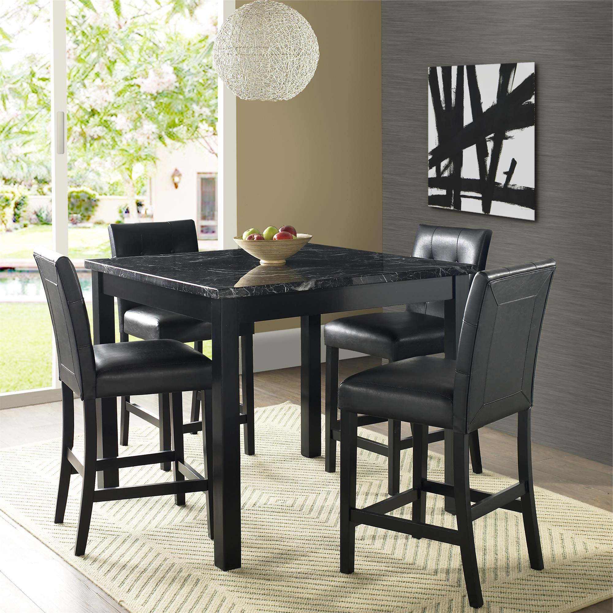 Latest Shop Gracewood Hollow Khorenatsi Faux Marble Counter Height Dining Pertaining To Bettencourt 3 Piece Counter Height Solid Wood Dining Sets (View 20 of 25)