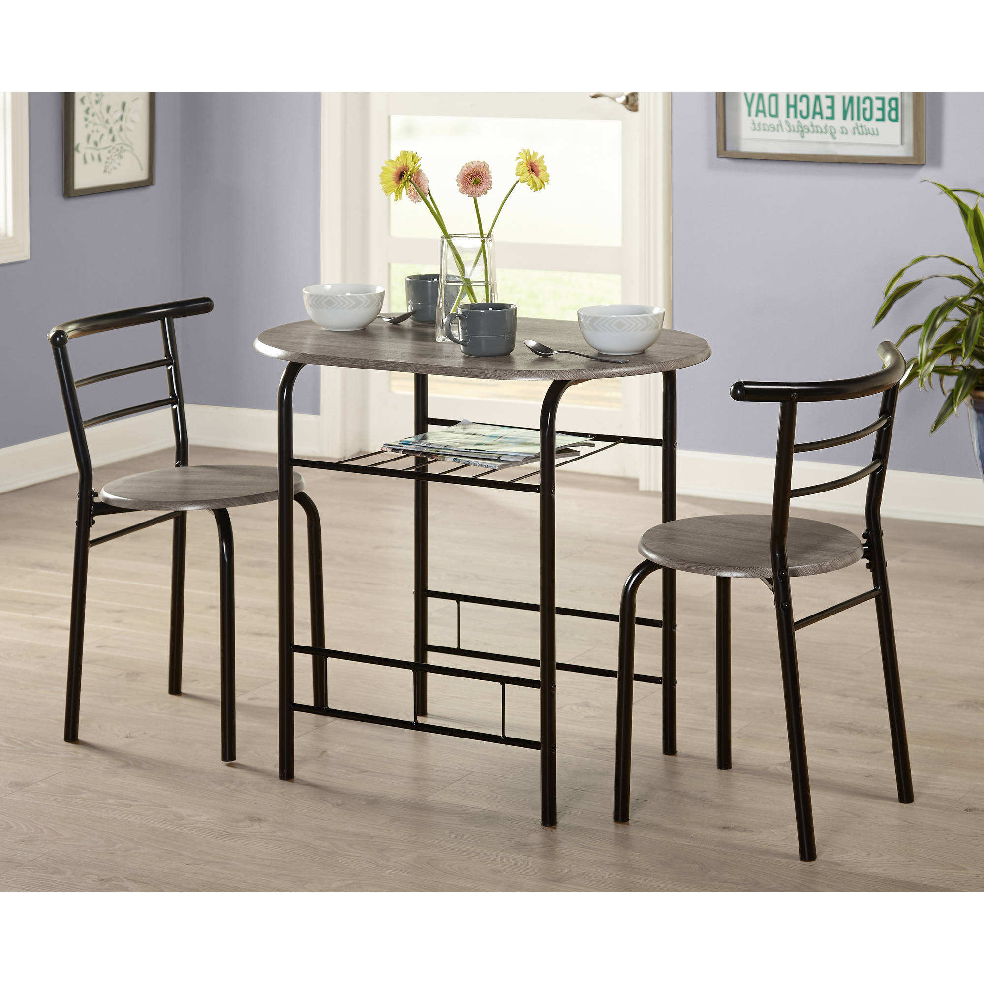 Latest Tms 3 Piece Bistro Dining Set – Walmart In Bate Red Retro 3 Piece Dining Sets (View 6 of 25)