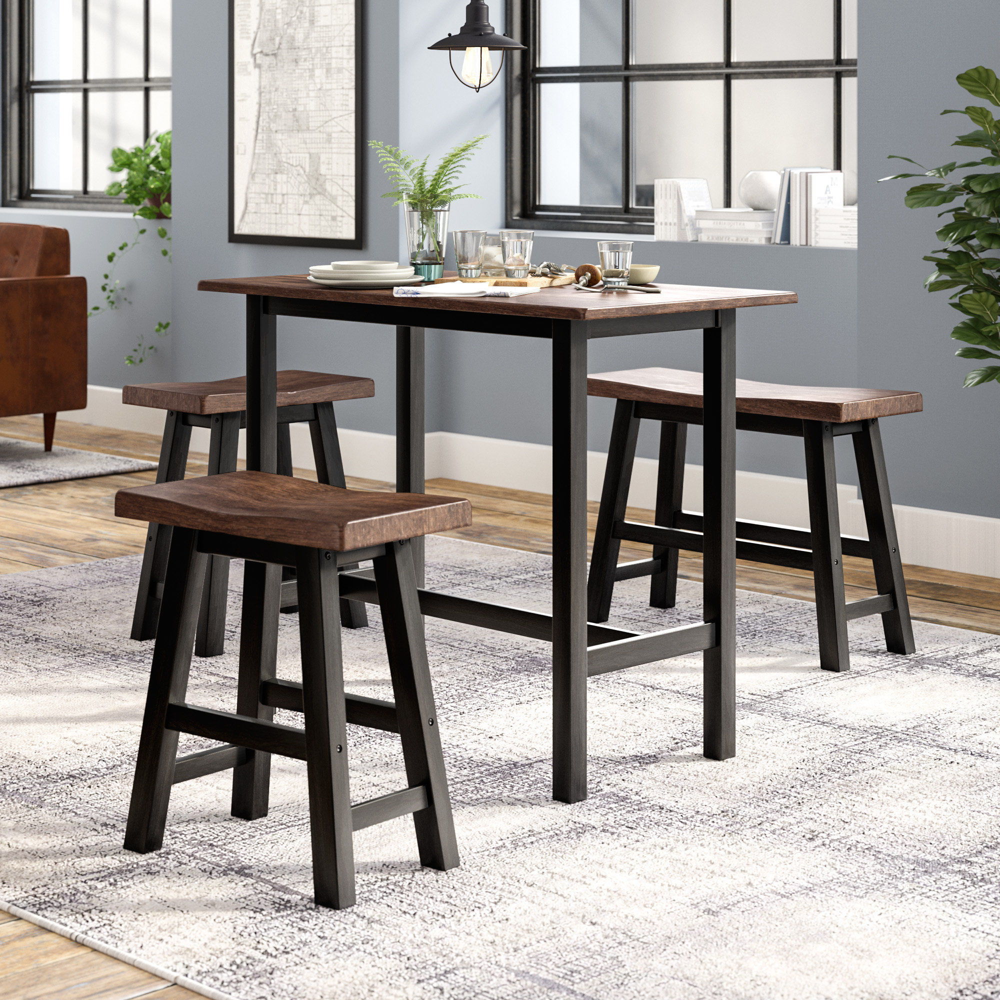 Latest Trent Austin Design Chelsey 4 Piece Dining Set & Reviews (View 13 of 25)