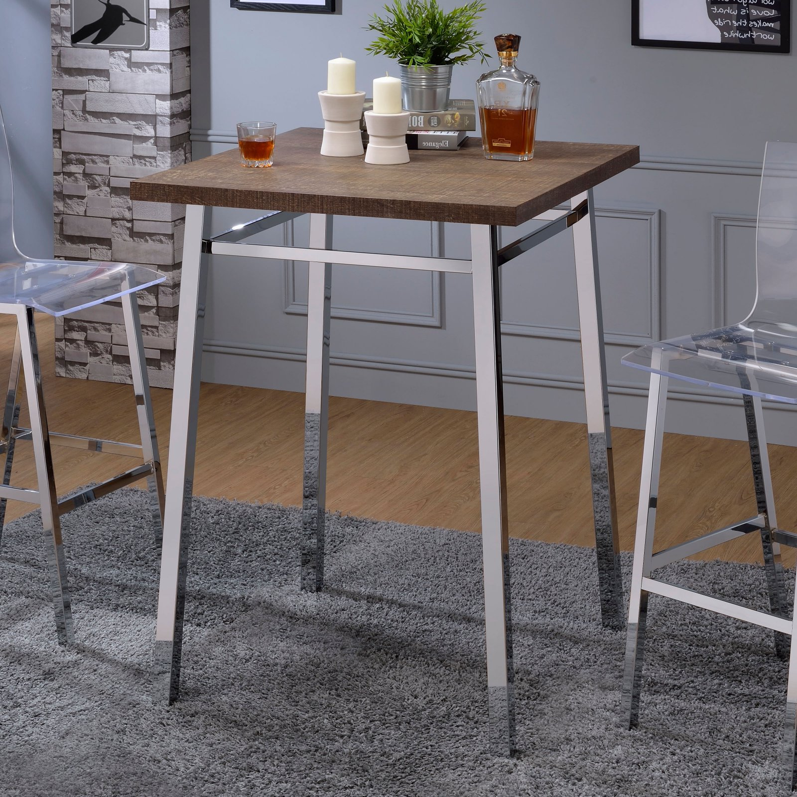 Latest Weatherholt Dining Tables Inside Acme Furniture Nadie Pub Table In  (View 10 of 25)