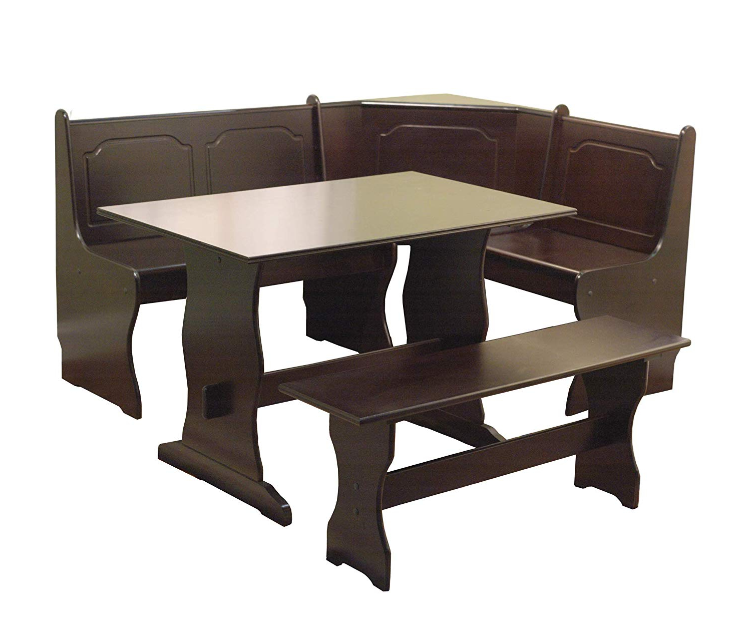 Ligon 3 Piece Breakfast Nook Dining Sets With Regard To 2019 Amazon: Target Marketing Systems 3 Piece Breakfast Nook Dining (View 8 of 25)