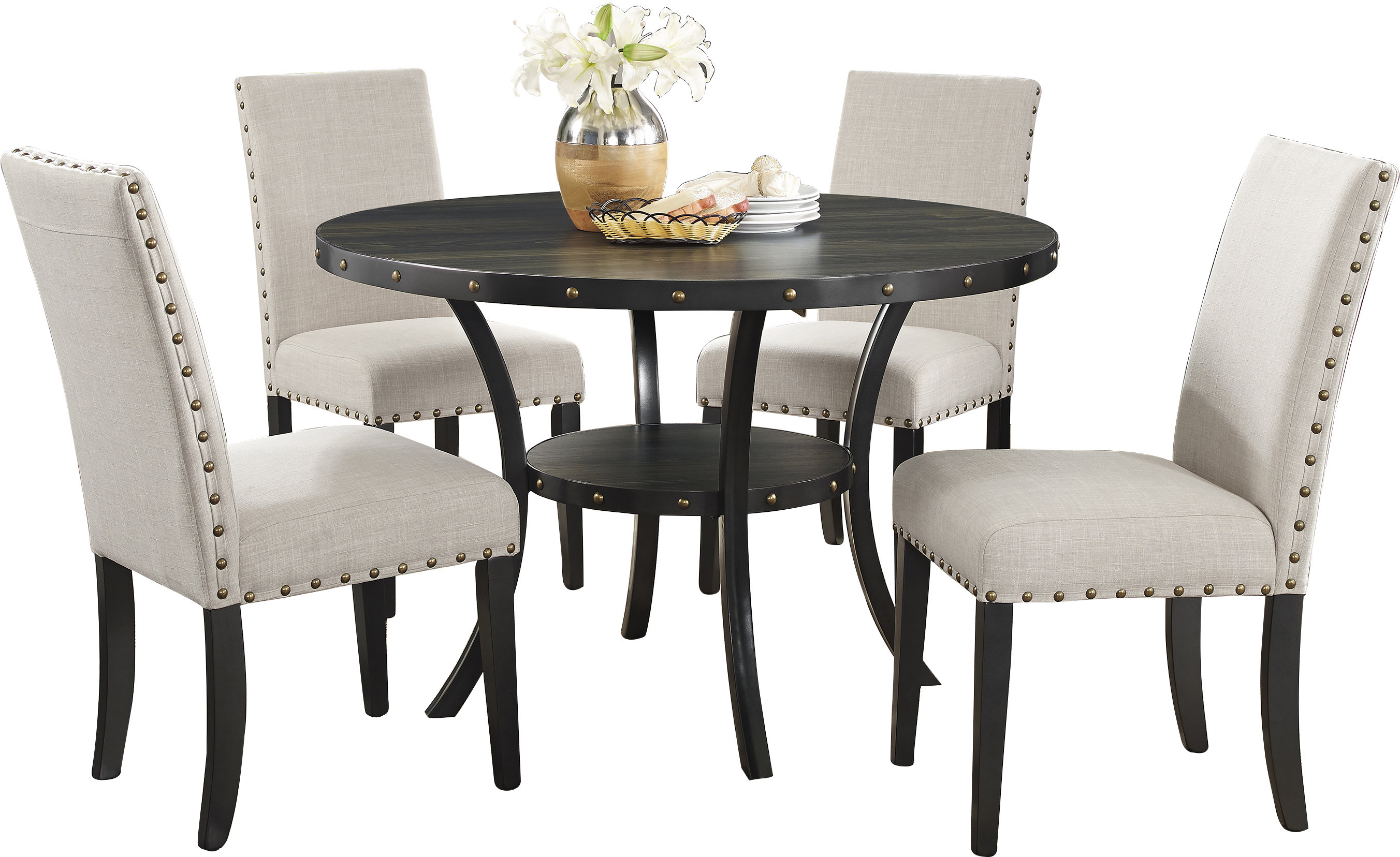 Liles 5 Piece Breakfast Nook Dining Sets Throughout Most Up To Date Amy 5 Piece Dining Set & Reviews (View 16 of 25)