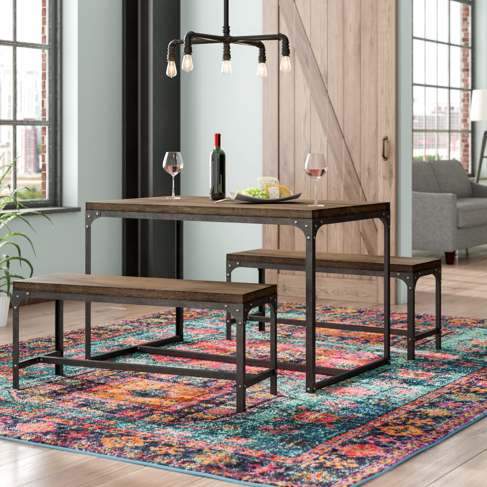 Lillard 3 Piece Breakfast Nook Dining Sets Inside Famous Williston Forge Myaa 3 Piece Dining Set & Reviews (View 10 of 25)